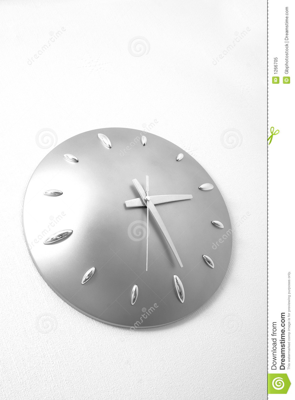 Bathroom Clock. Bathroom Clock Royalty Free Stock Photo   Image  1266705
