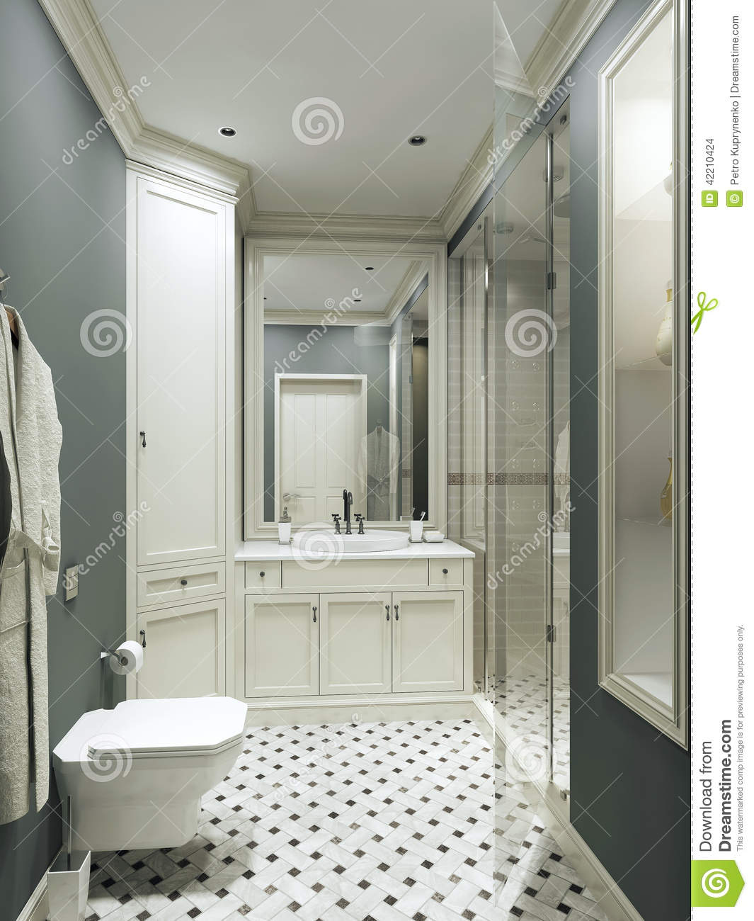 Foto Bagni Stile Country bathroom country style stock illustration. illustration of
