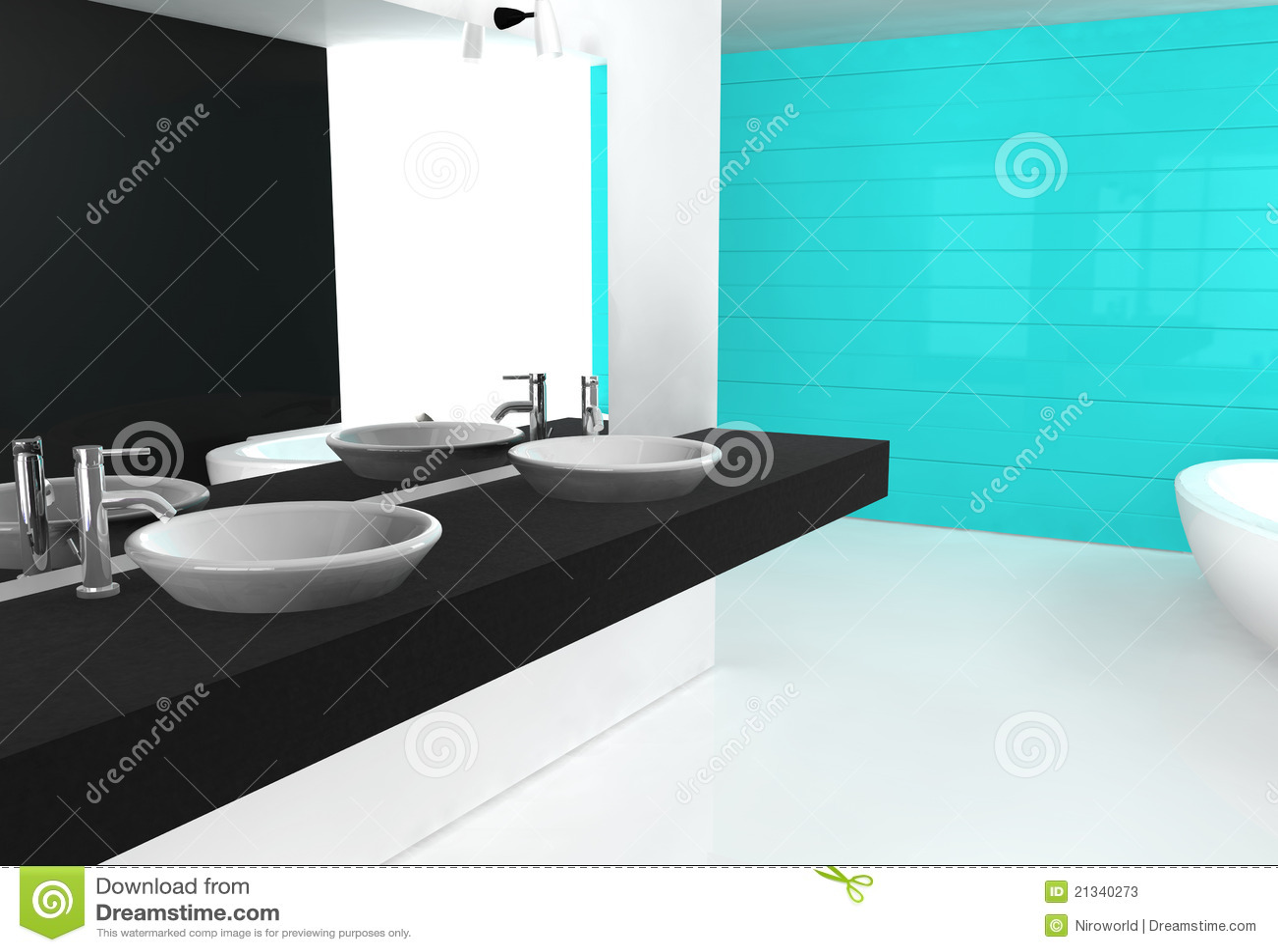 bathroom cyan stock photos - image: 21340273