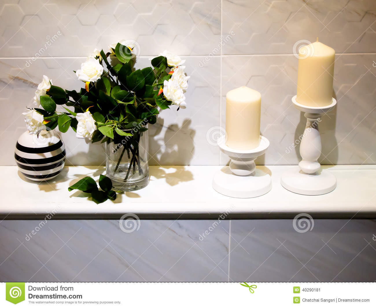 Bathroom decor stock image image of candle massage for Accessories decoration