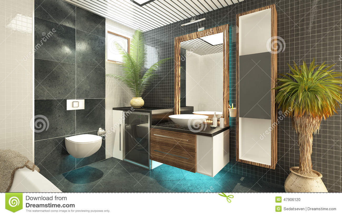 Bathroom design stock illustration image 47906120 for Design your bathroom 3d