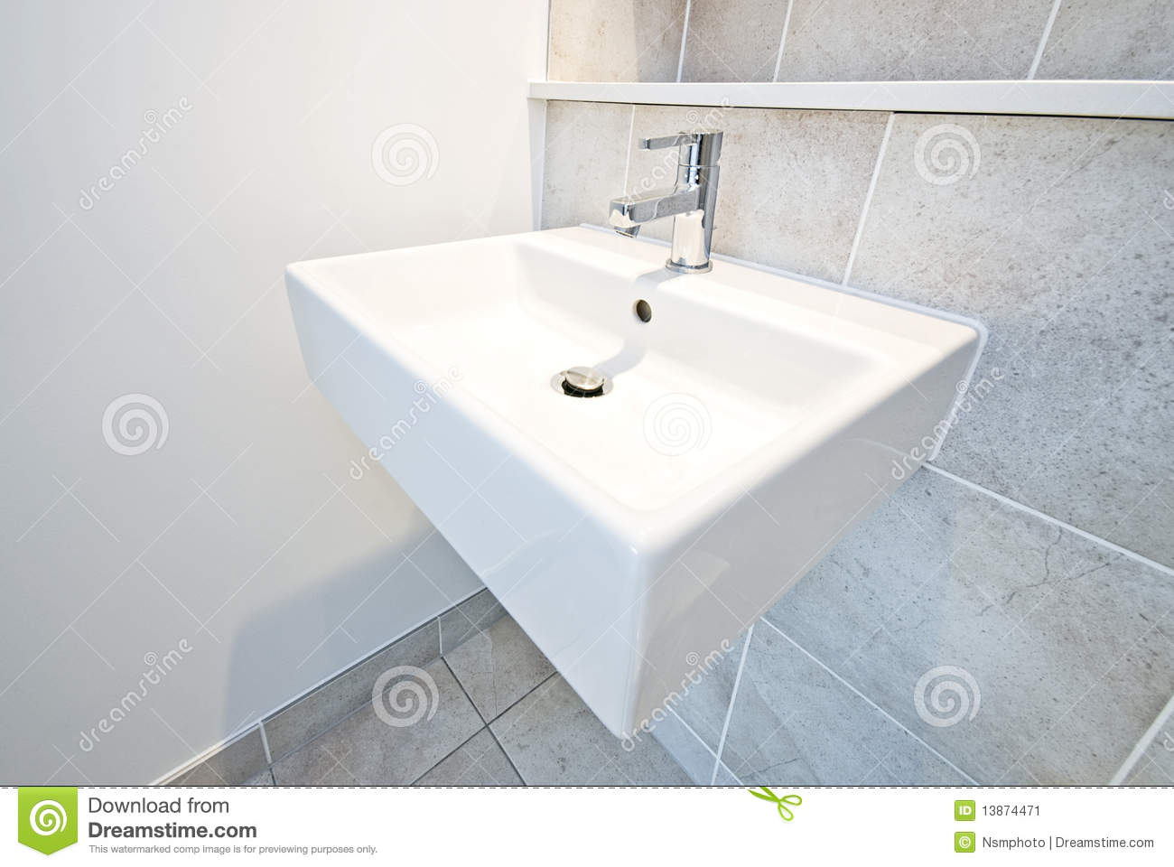 Bathroom Detail Ceramic Wash Basin Stock Image Image Of
