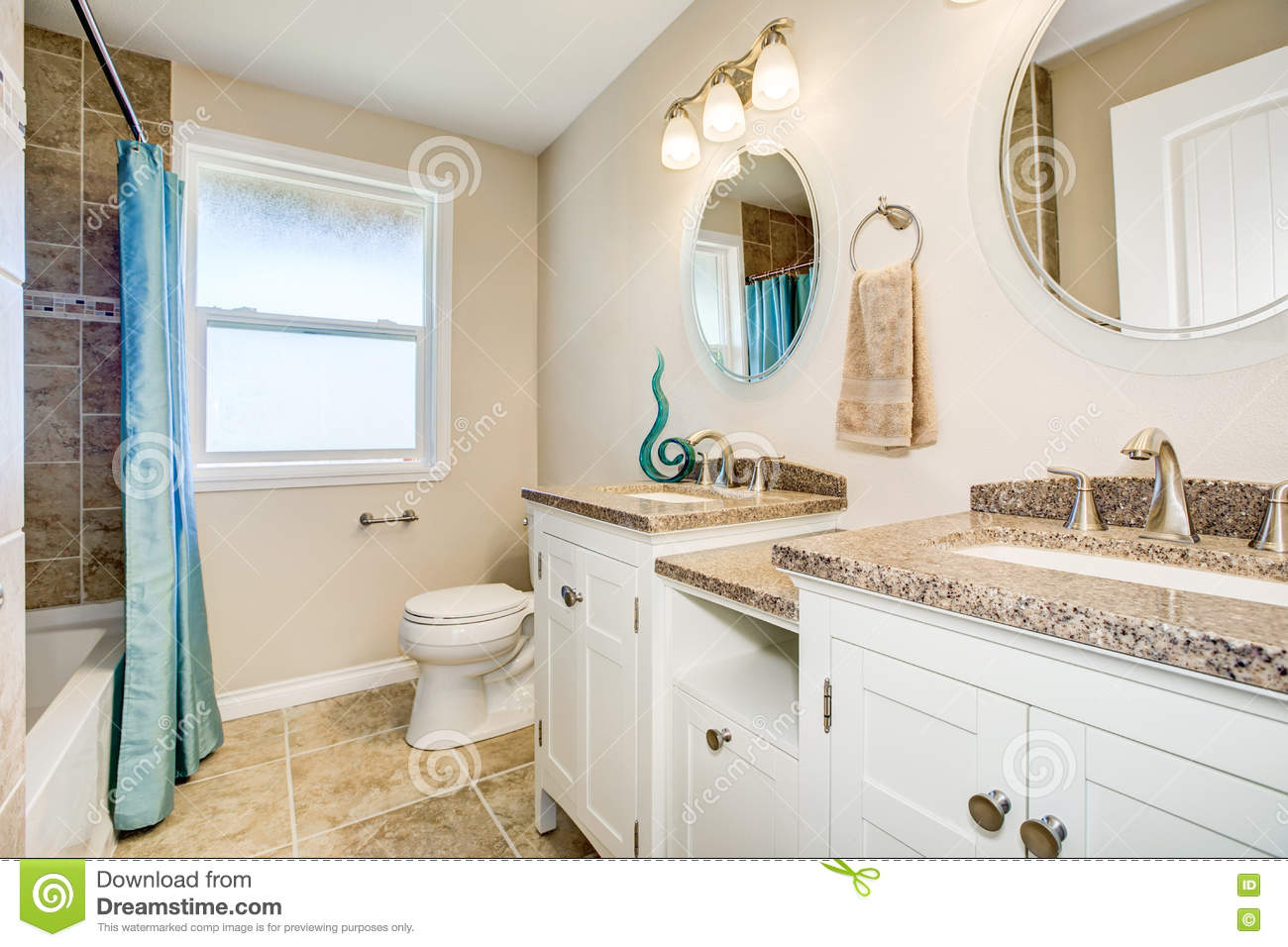 Bathroom Detail Vanity Cabinet With A Shower Stock Image Image Of Style Simple 79976517