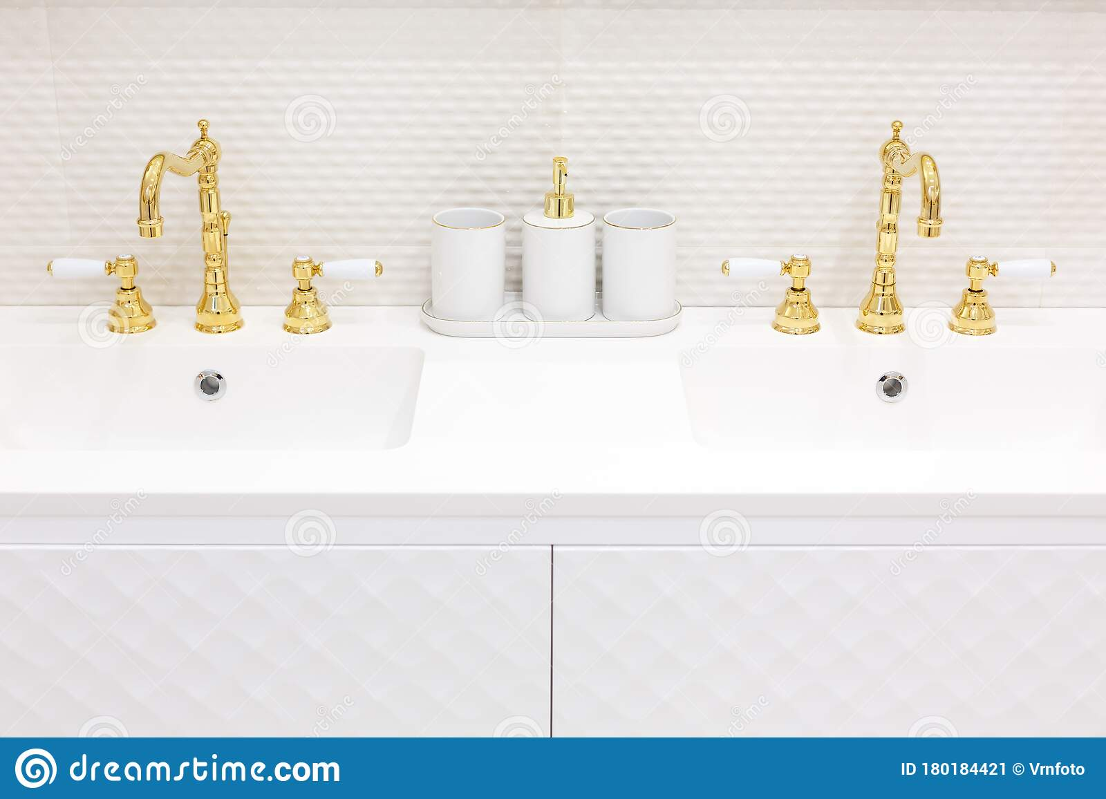 Bathroom Faucet Made Of Gold Antique Style Stock Image Image Of Antique House 180184421