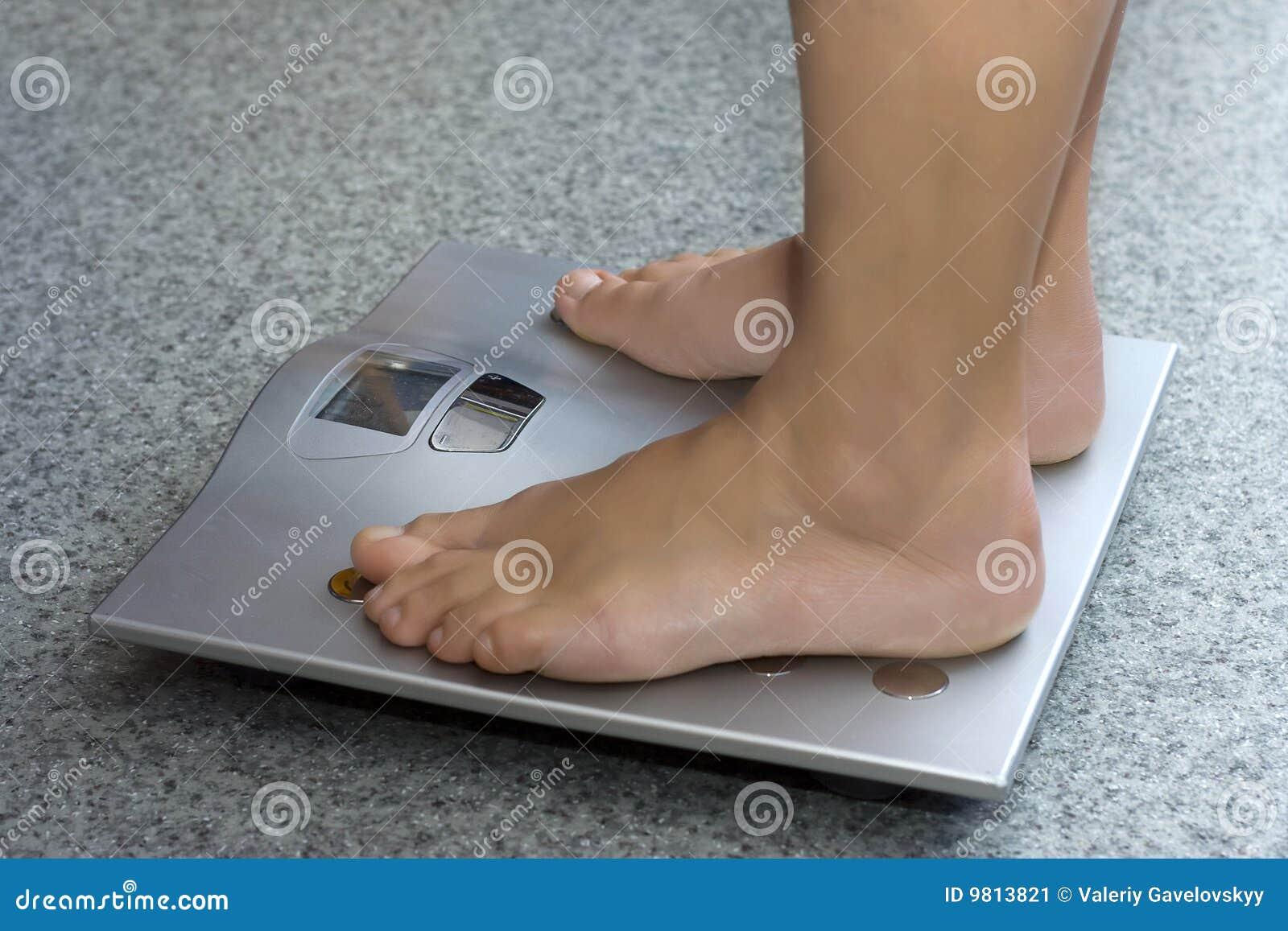 Bathroom feet scale