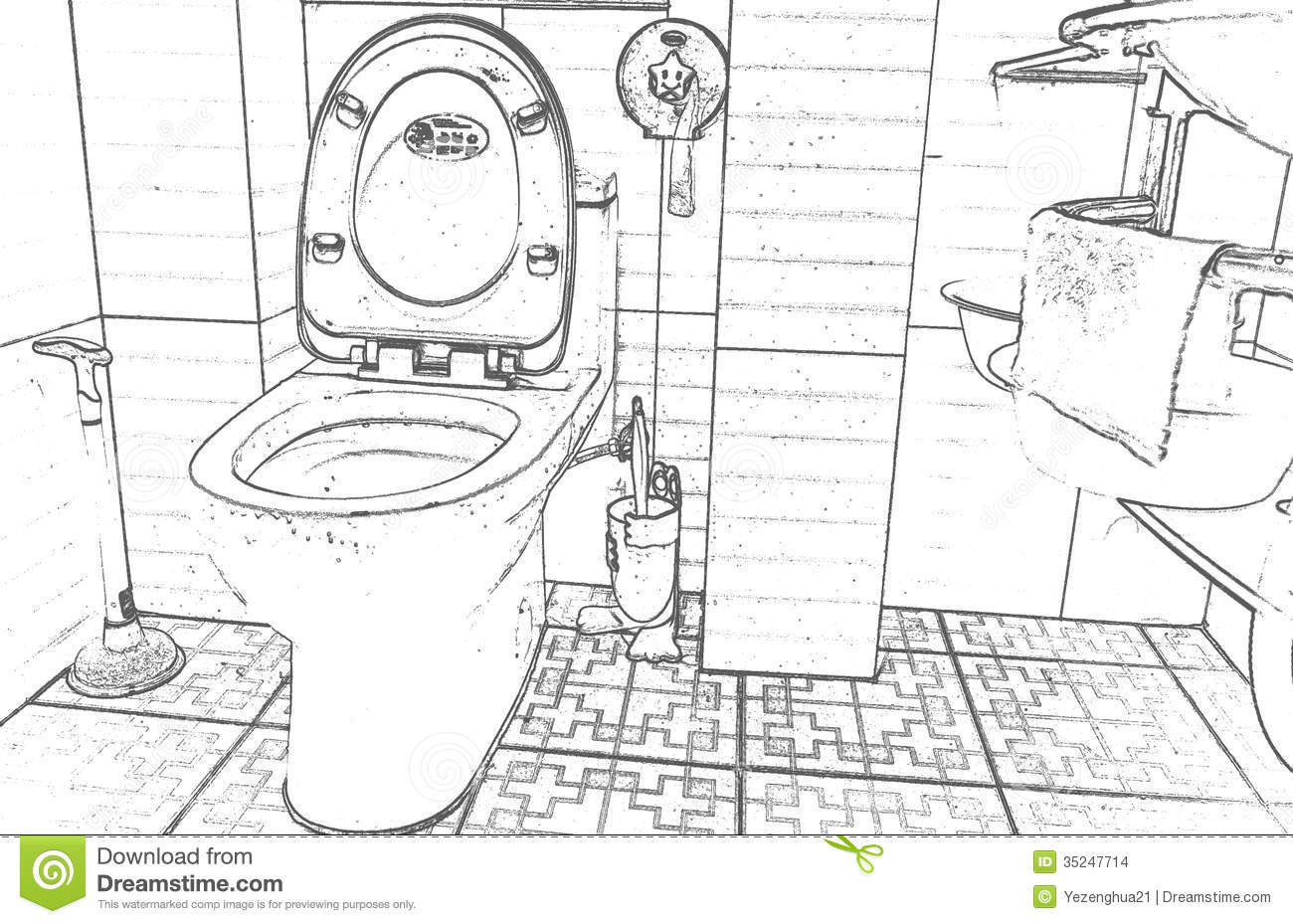 Line Art Bathroom : Bathroom furnishings