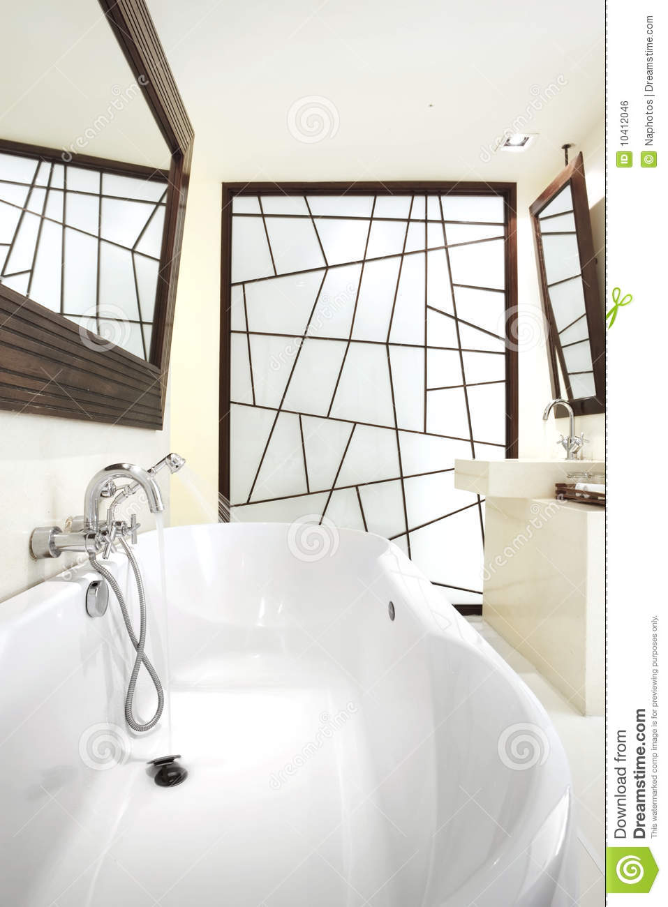 bathroom with graphic design stock photo image 10412046
