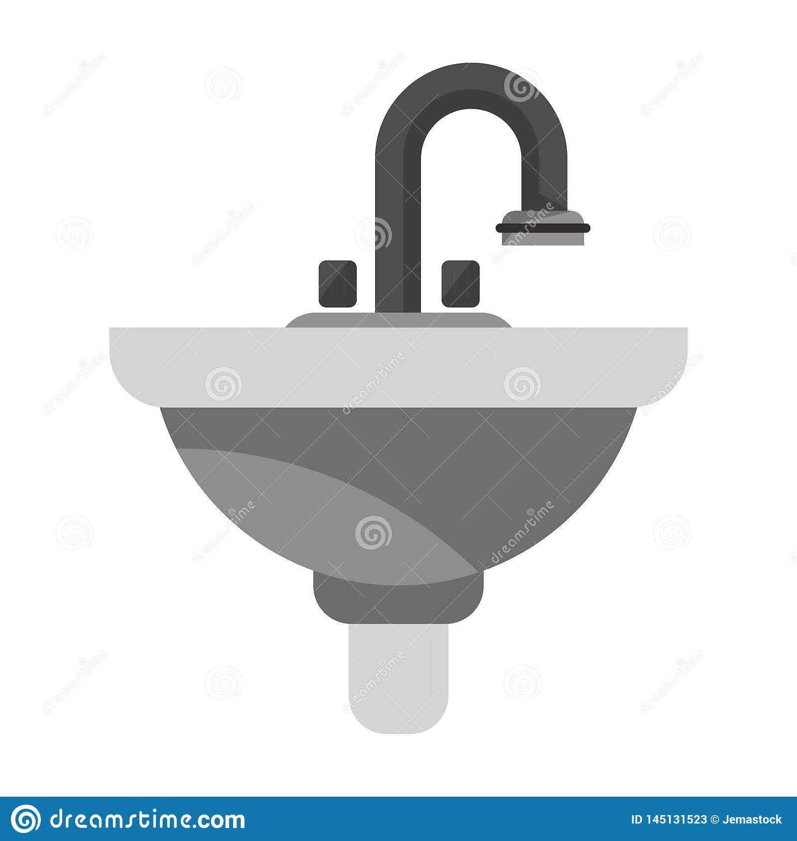 Bathroom handwash cartoon isolated