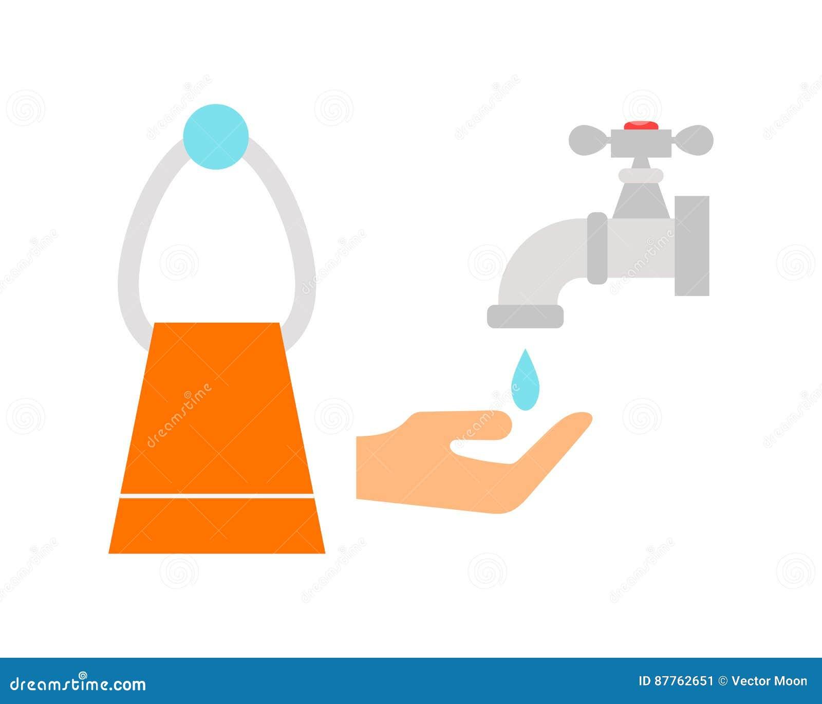 The towel icon bathroom symbol flat cartoon vector