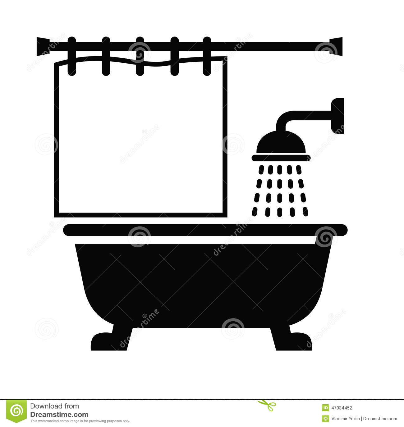Bathroom Icon Stock Vector Image 47034452