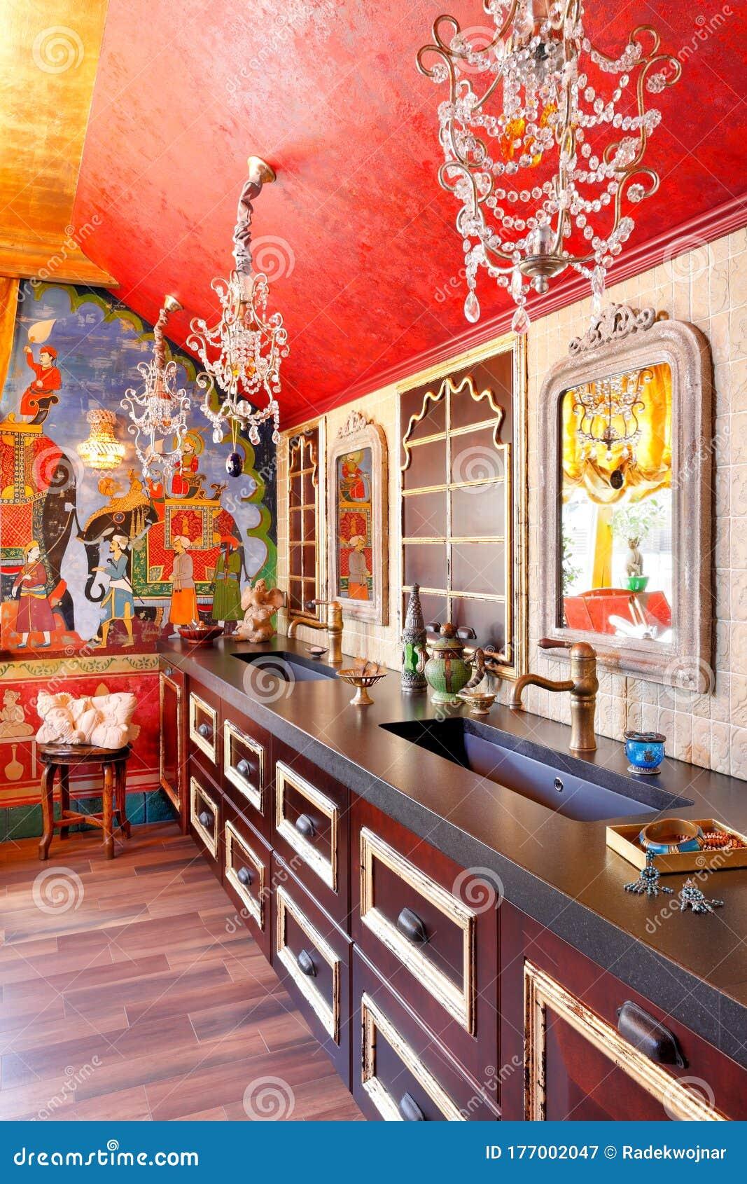 Indian style bathroom stock image. Image of bathroom ...