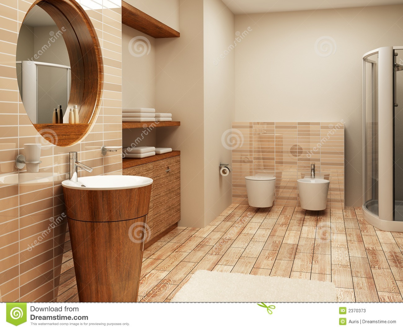 . Bathroom interior stock image  Image of bidet  modern   2370373