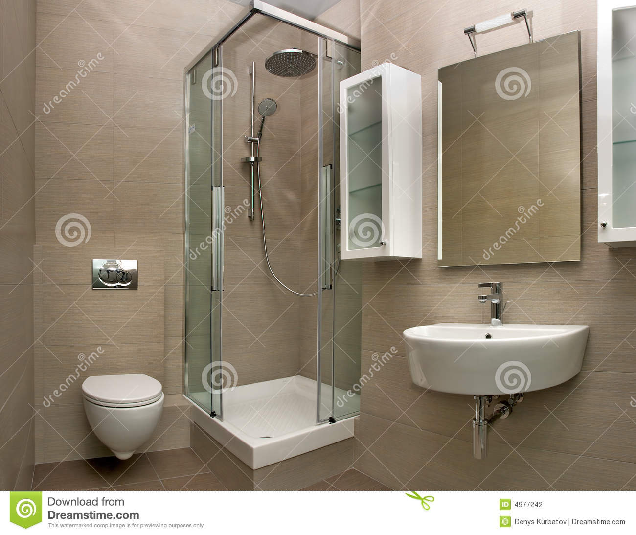 Small bathroom with shower design - Bathroom Interior Stock Photography Image 4977242