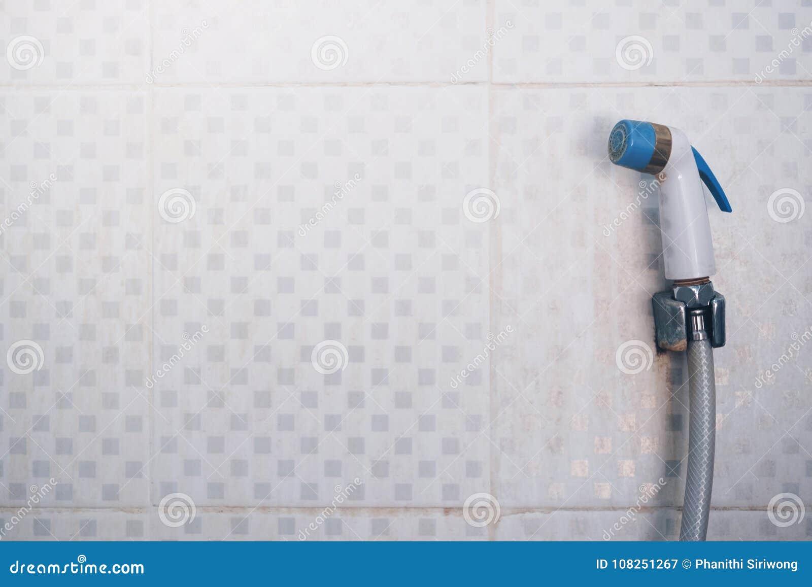 Bathroom Interior And Bidet Shower Or Bidet Spray Stock Image