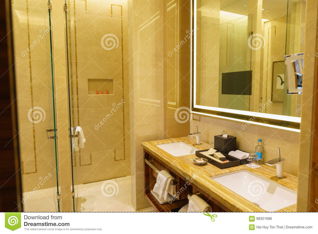 Download Bathroom Interior Of Brand New Luxury Resort Hotel Stock Photo    Image Of Care,