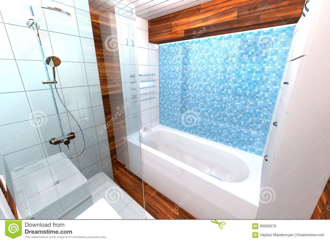 Bathroom Interior Design Stock Illustration Image Of Adobe 66909379