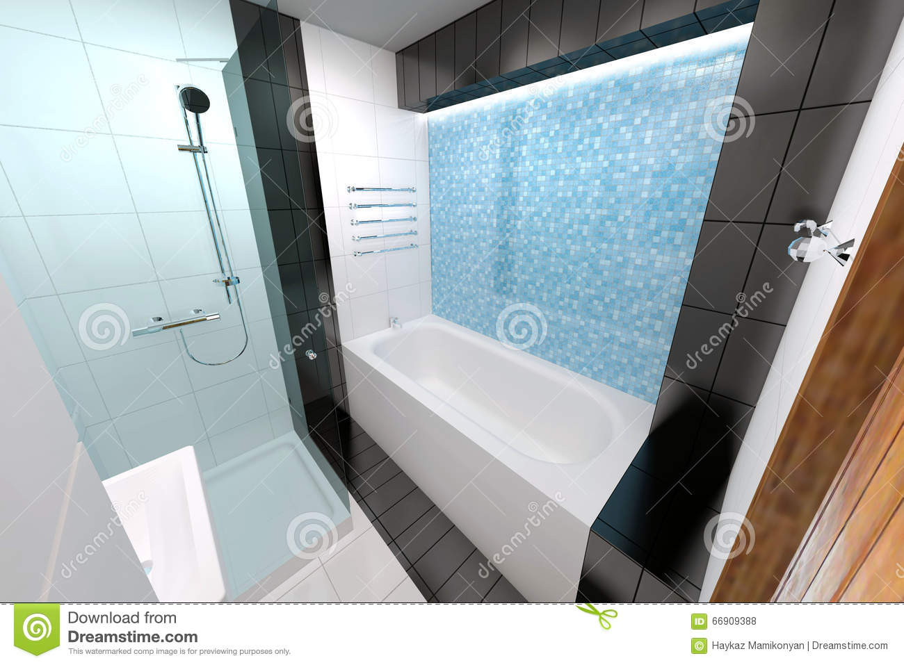 Bathroom Interior Design Stock Illustration Illustration Of Adobe - Bathroom remodel program free