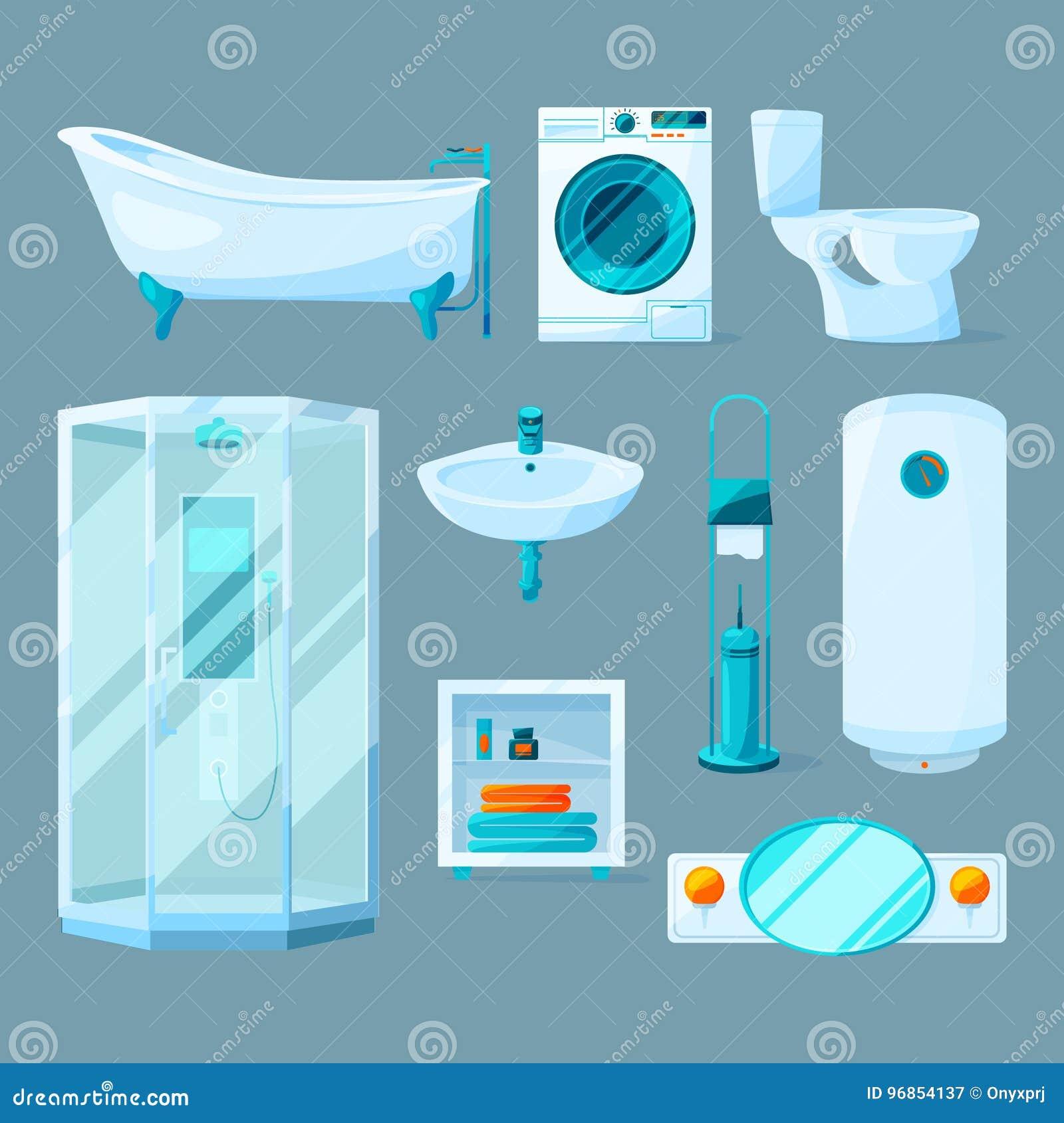 Bathroom Interior Furniture And Different Equipment