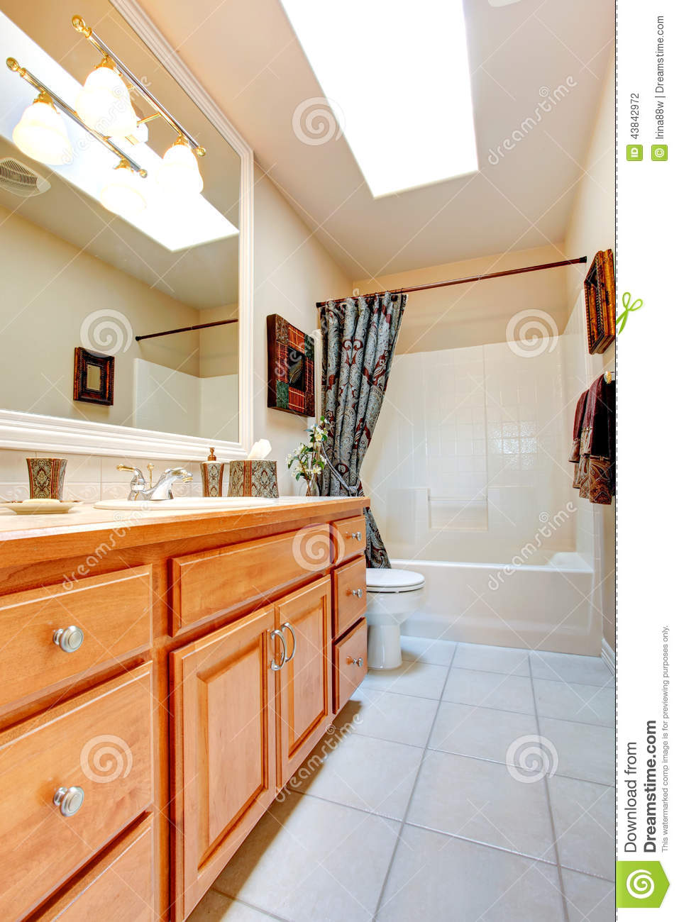 Bathroom Interior In New American House Stock Photo