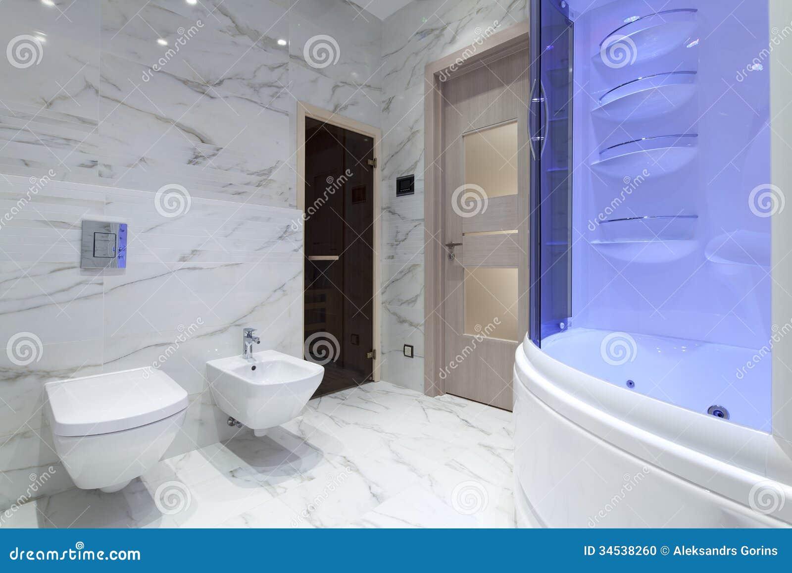 bathroom interior of new designer bathroom in modern style - New Bathroom Style