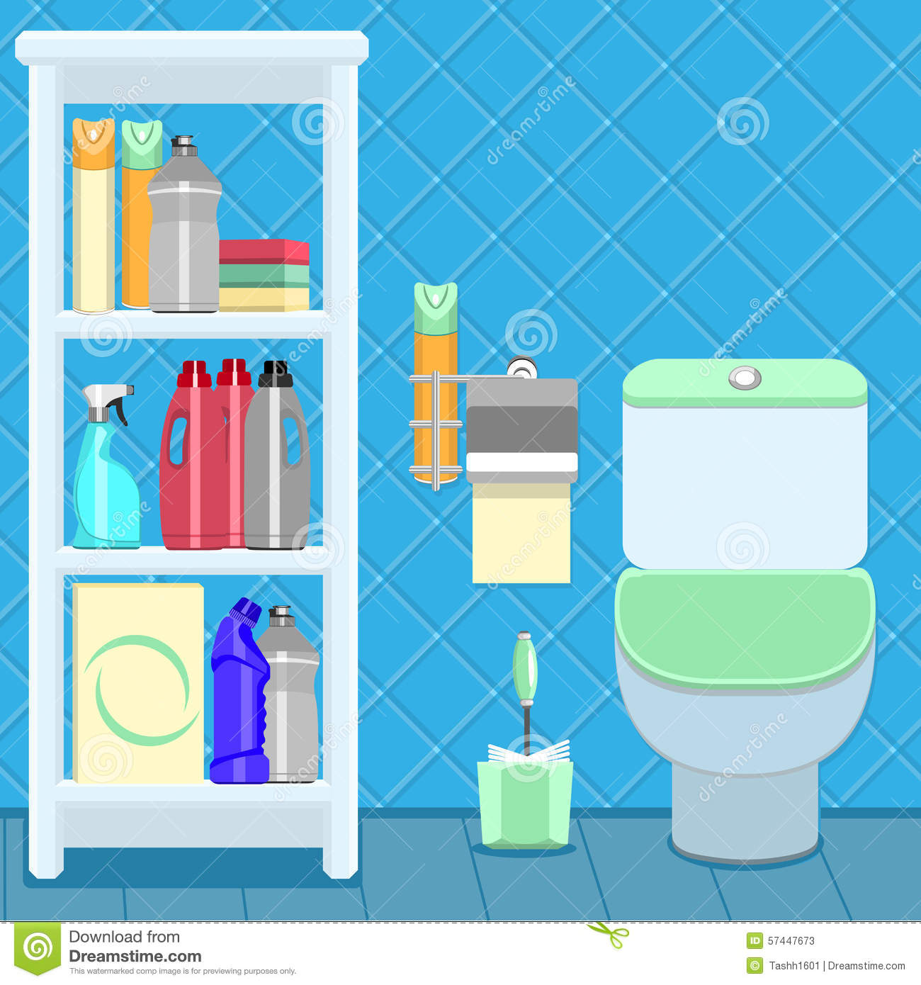 Bathroom items stock vector illustration of accessory for Bathroom things
