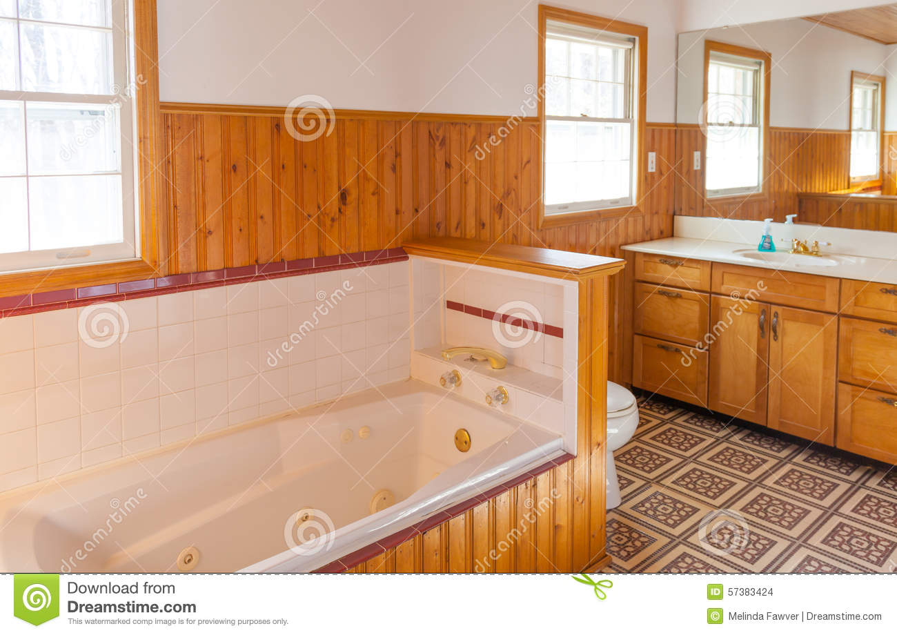 Bathroom with Jacuzzi. Bathroom With Jacuzzi Stock Photo   Image  57383424