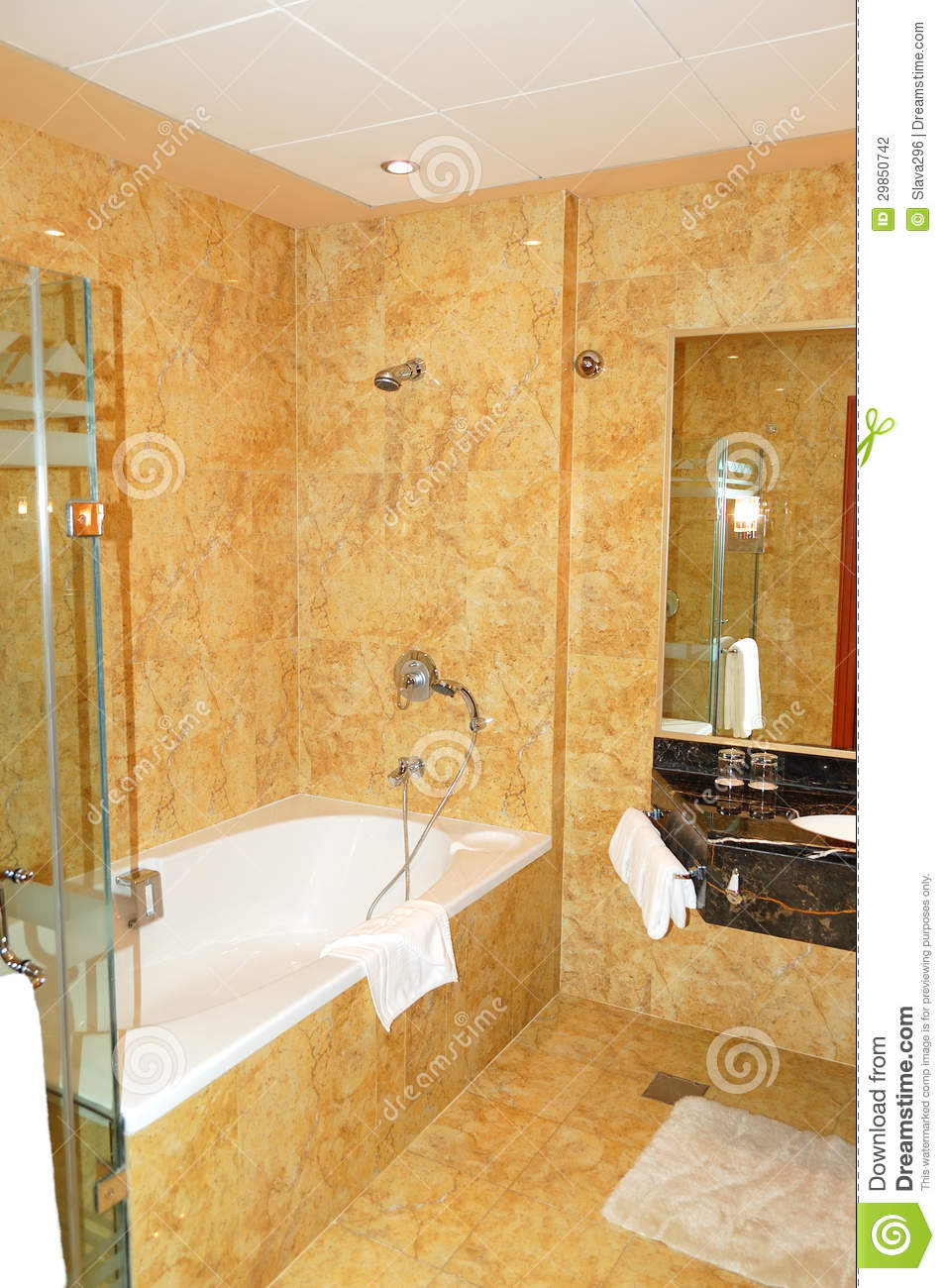 Bathroom in the luxurious hotel stock photography image for Bathroom design uae