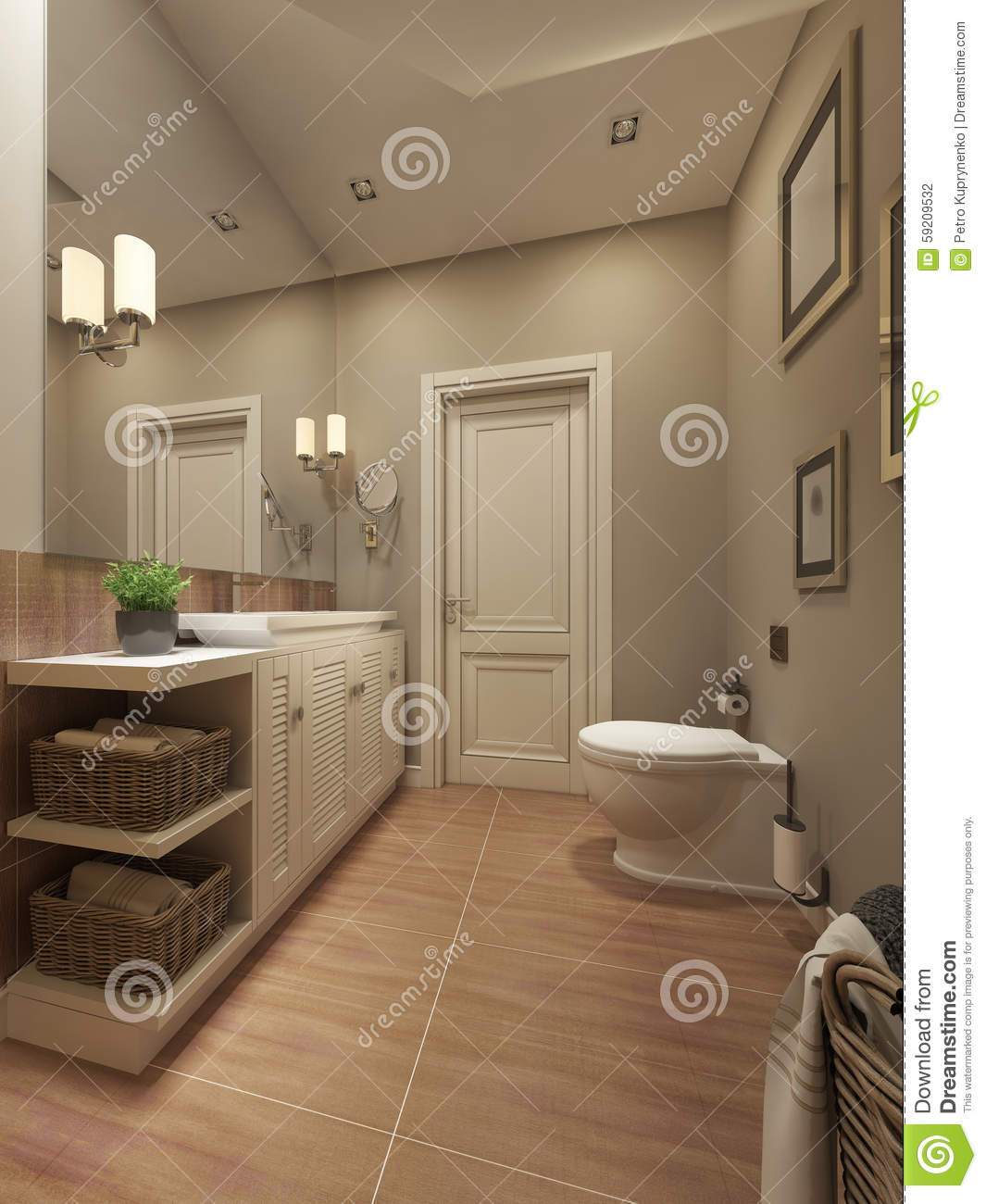 Bathroom Mediterranean Style: Bathroom Mediterranean Design Stock Photo