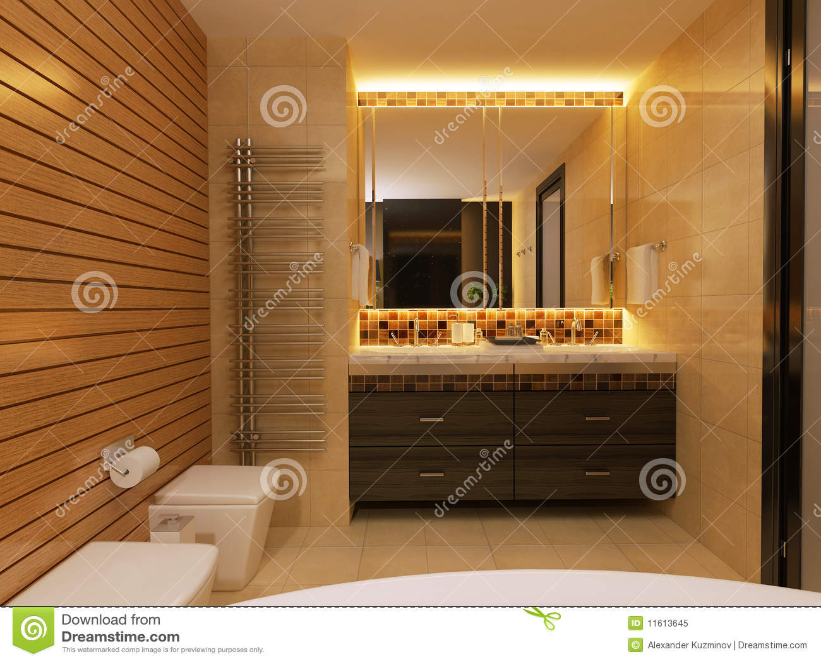 Bathroom mirror dressing tabelle stock abbildung illustration