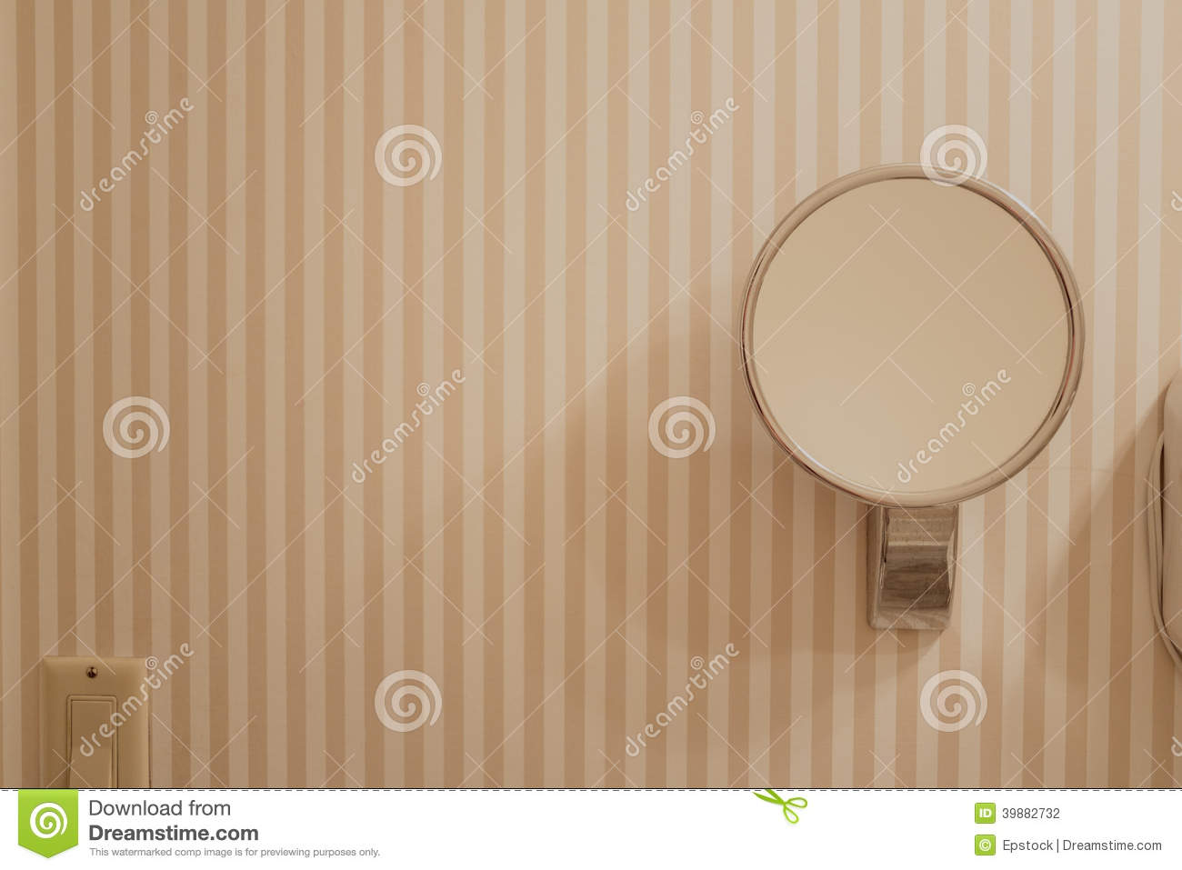 Bathroom Mirror On Wall Stock Photo Image Of Sparkly 39882732
