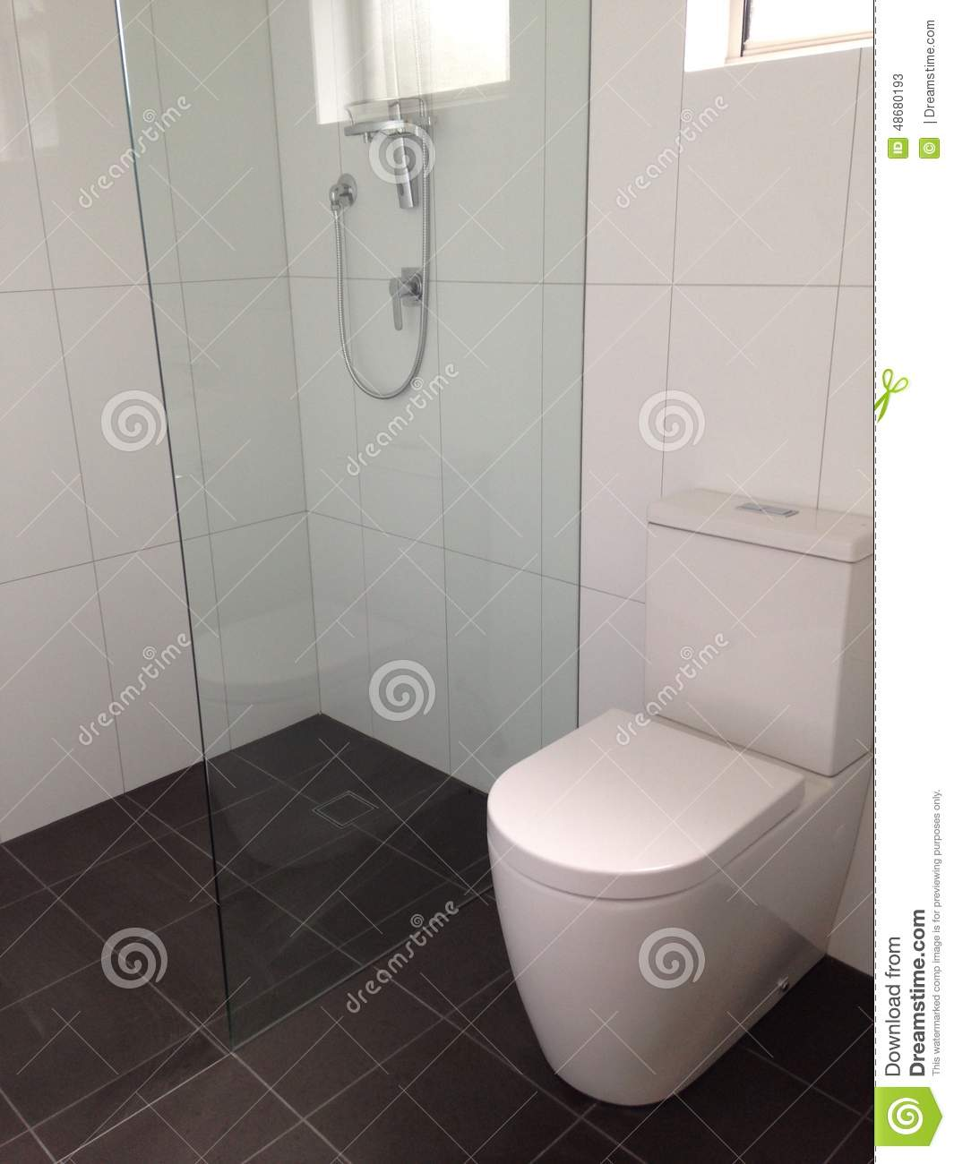Bathroom stock image. Image of shower, residential, house - 48680193