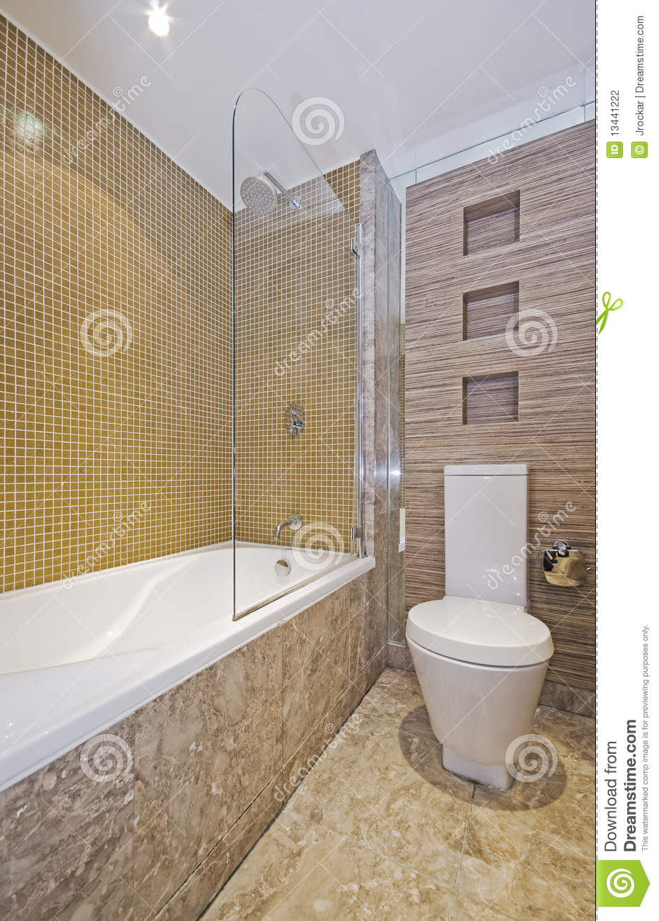 Bathroom With Mosaic Tiles Stock Photo Image Of Ceiling