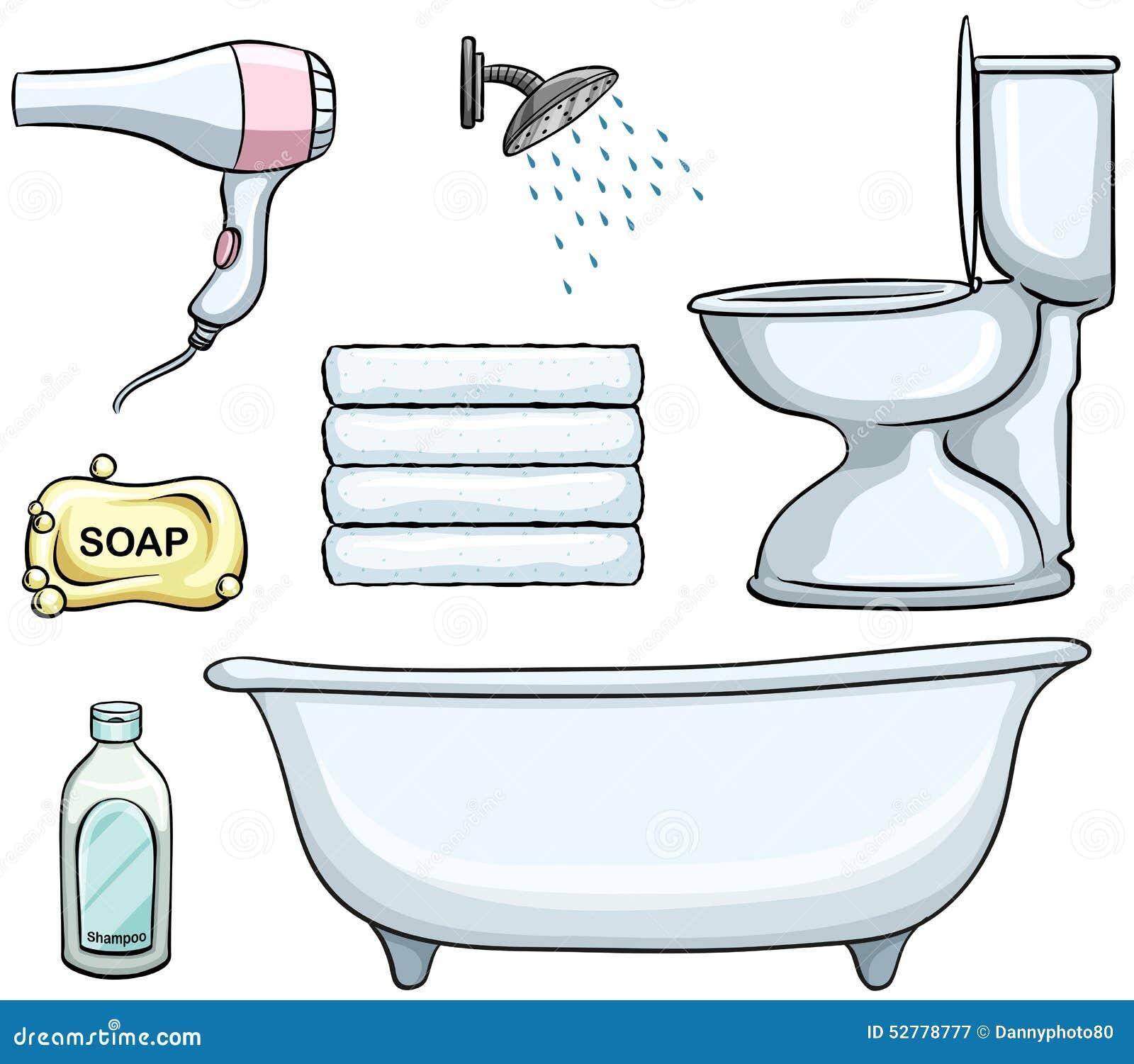 Bathroom Designers Bathroom Objects Stock Vector Image 52778777