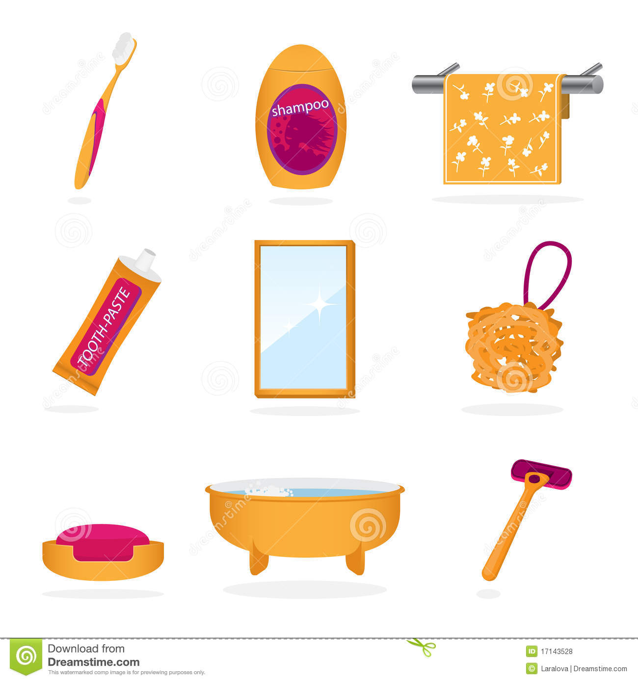 Bathroom Objects Icons Stock Vector Illustration Of Liquid 17143528
