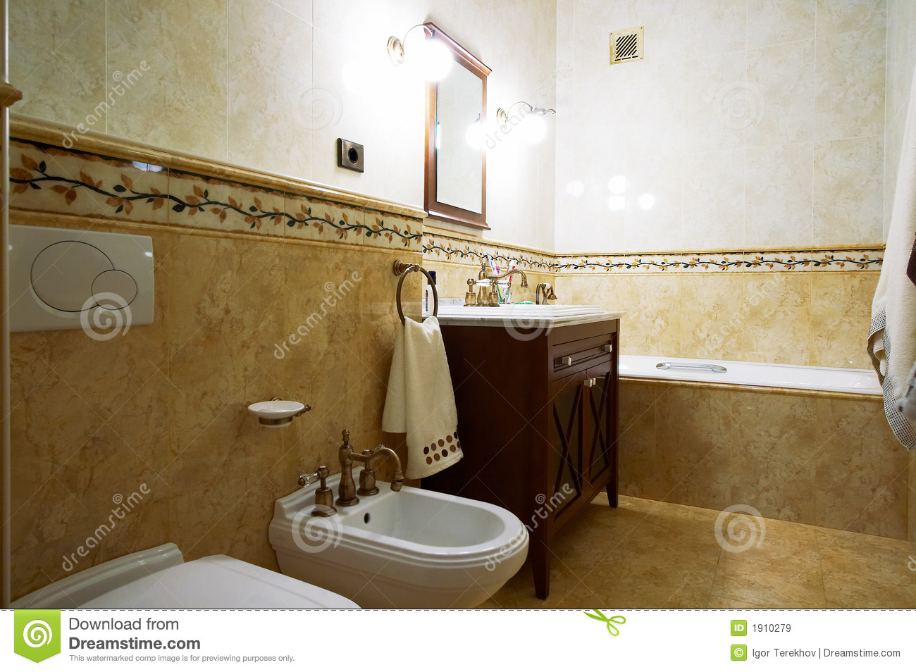 Bathroom In Old Style Royalty Free Stock Images Image 1910279