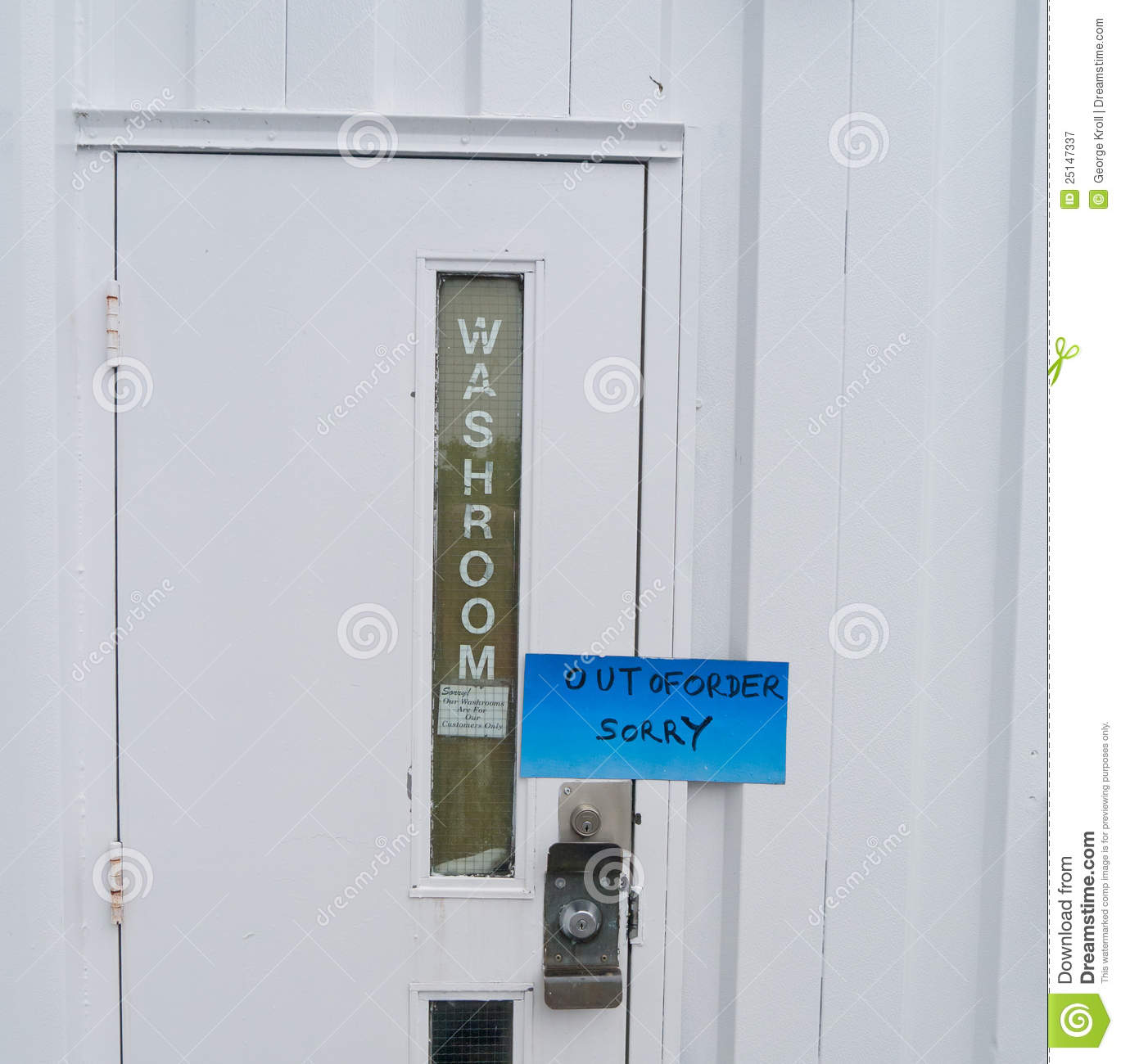Bathroom Is Out Of Order Royalty Free Stock Photography Image