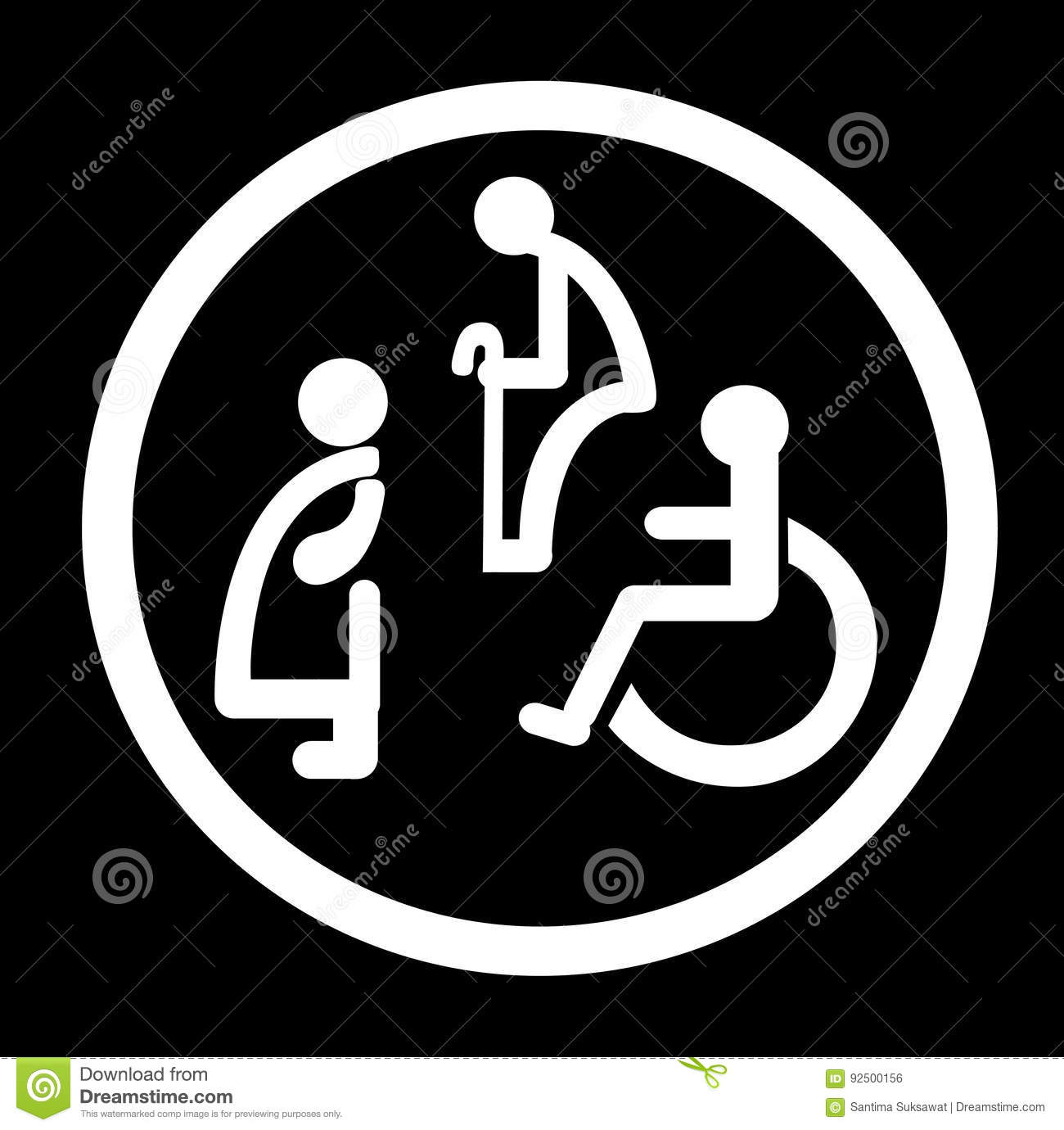 Bathroom Signs Eps bathroom for persons with disabilities. disabled toilet sign stock
