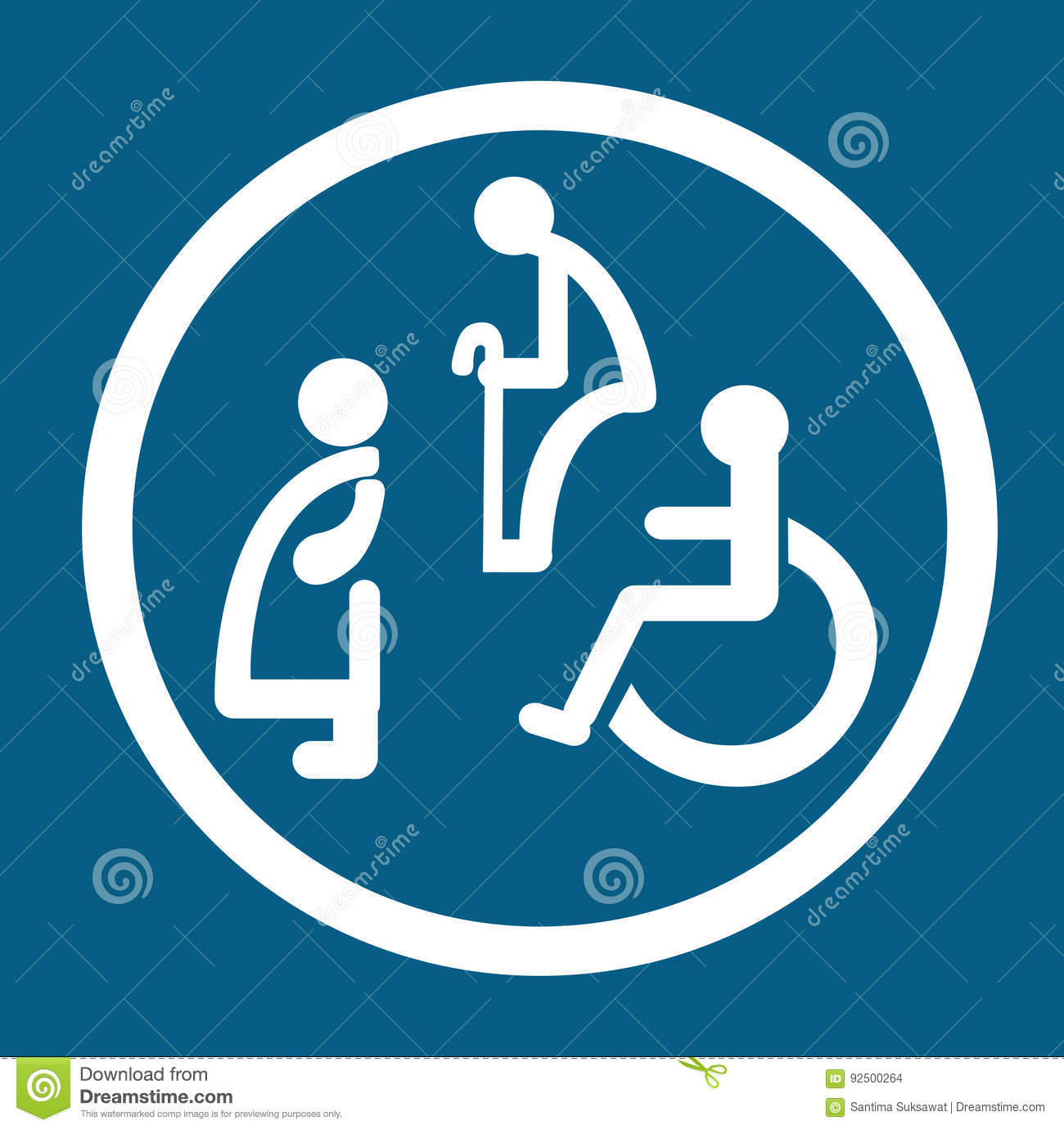 Bathroom For Persons With Disabilities  Disabled Toilet Sign Stock Vector. Bathroom For Persons With Disabilities  Disabled Toilet Sign Stock