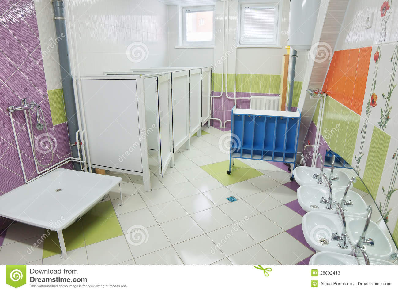 bathroom in a preschool stock image image of bathroom