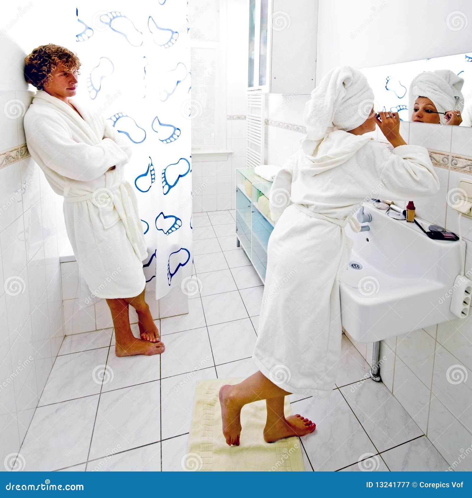 Bathroom Queue bathroom queue royalty free stock photography - image: 13241777