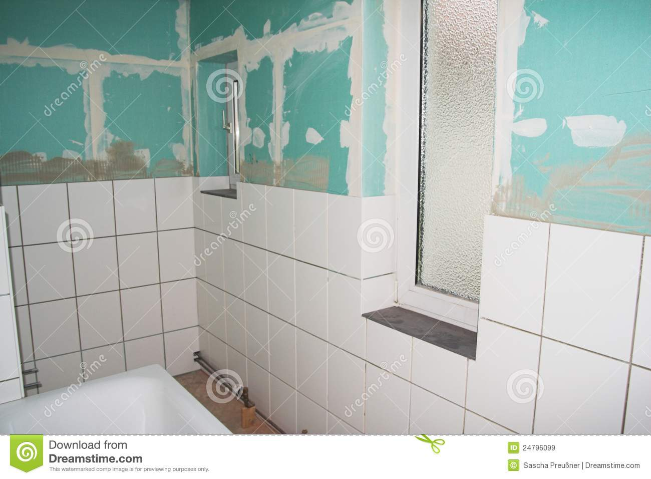bathroom reconstruction stock image image of