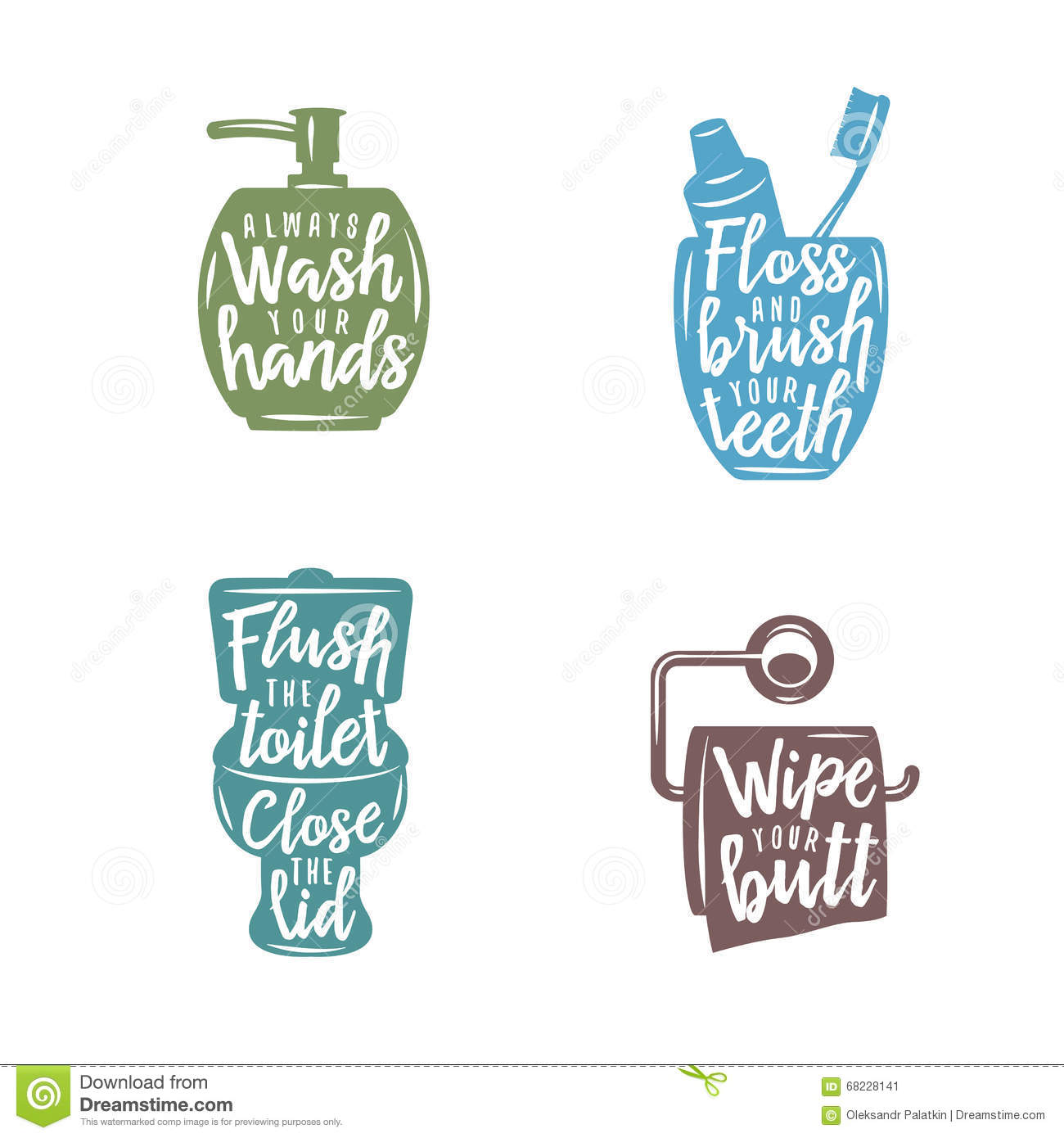 Bathroom related vintage posters with quotes vector for Bathroom quotes svg