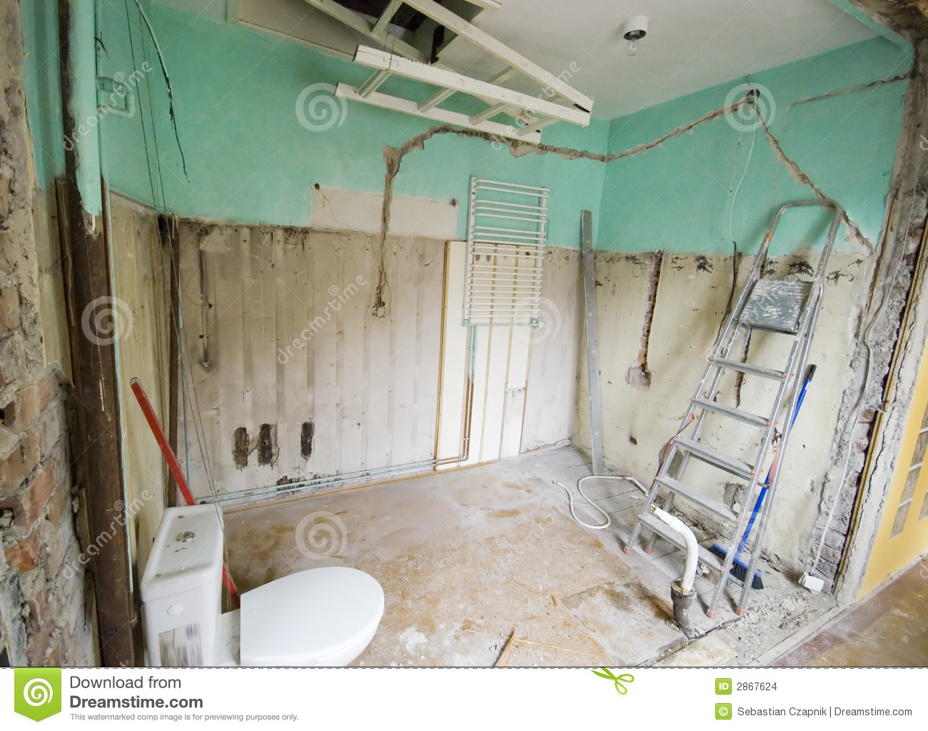 Bathroom Renovation. Stock Images - Image: 2867624