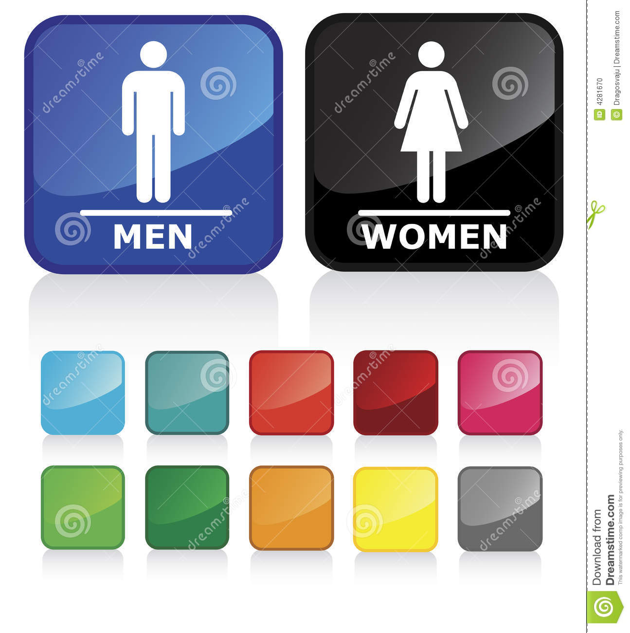 Bathroom Signs To Download bathroom signs 2 stock photo - image: 4281670