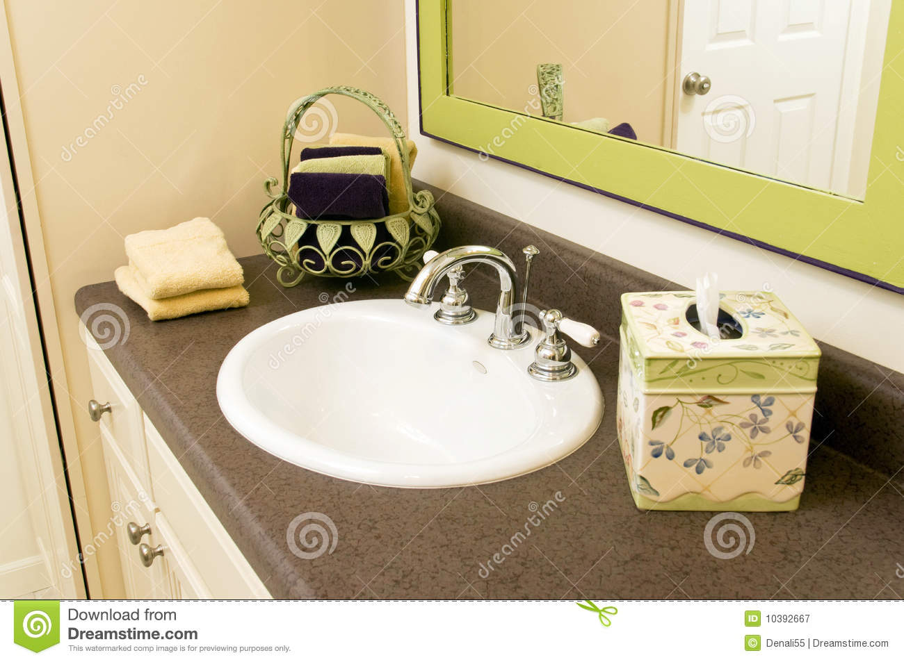 Bathroom sink with accessories royalty free stock for Bathroom sink accessories sets