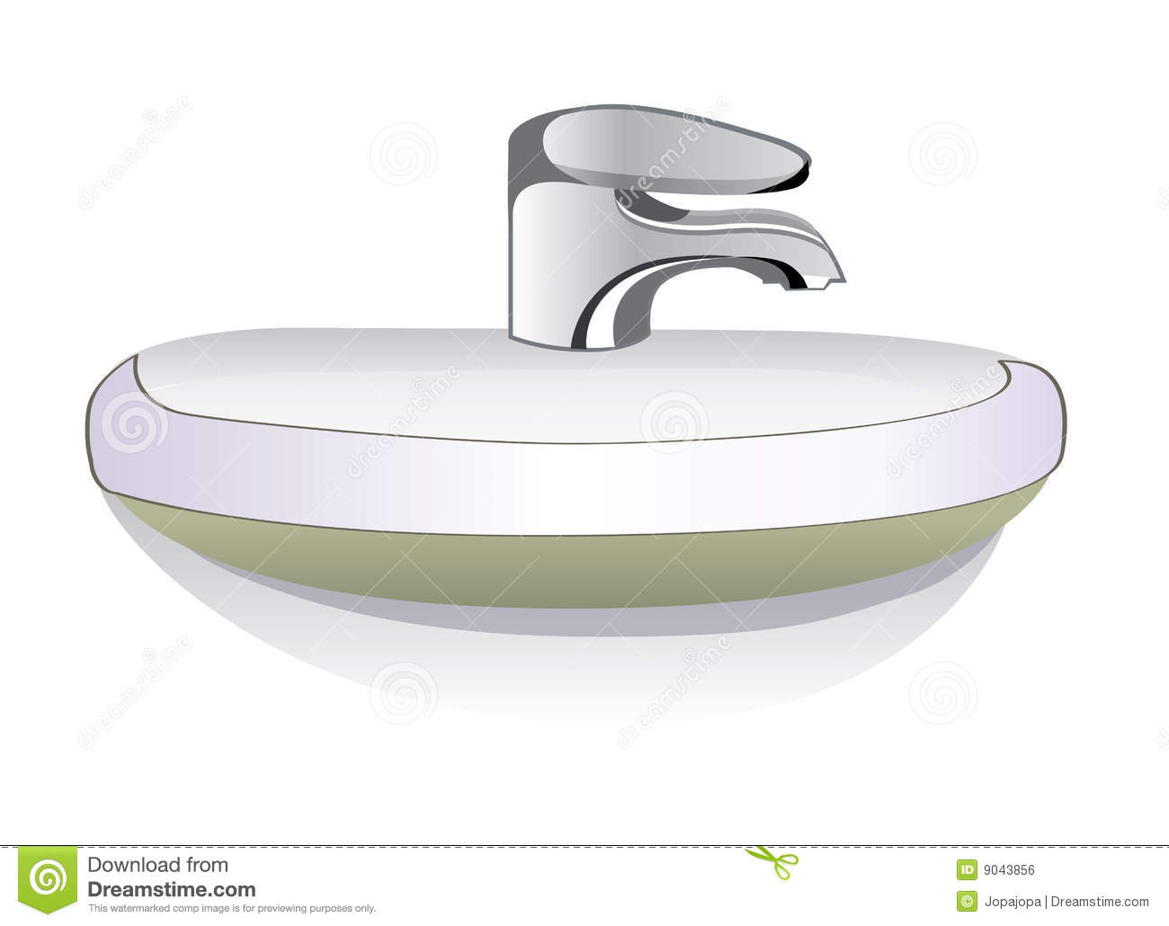 Bathroom Sink Illustration Royalty Free Stock Image
