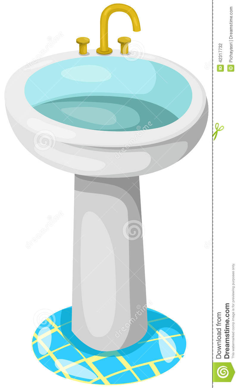Bathroom Sink Stock Vector Image 42317732
