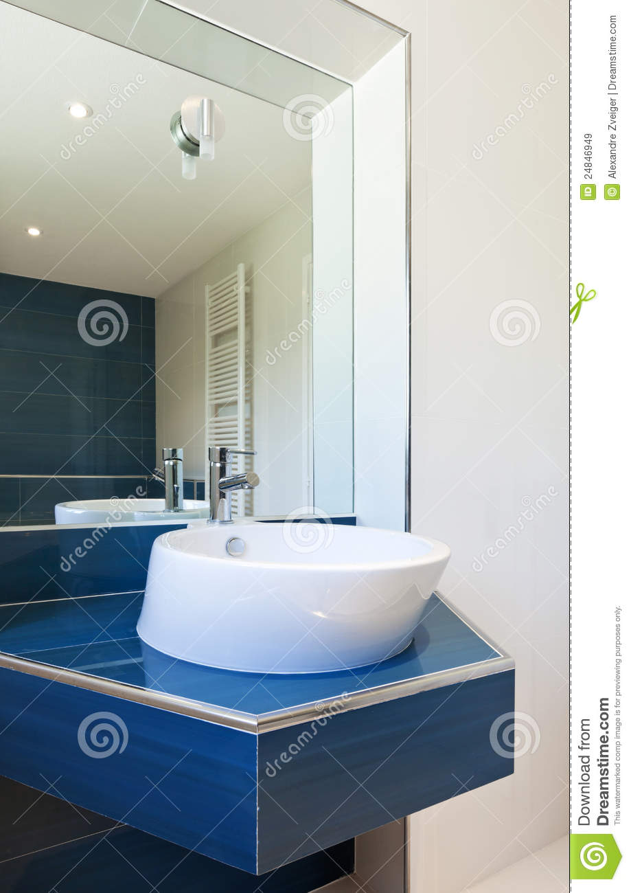 Bathroom, Sink And Mirror Royalty Free Stock Images - Image: 24846949