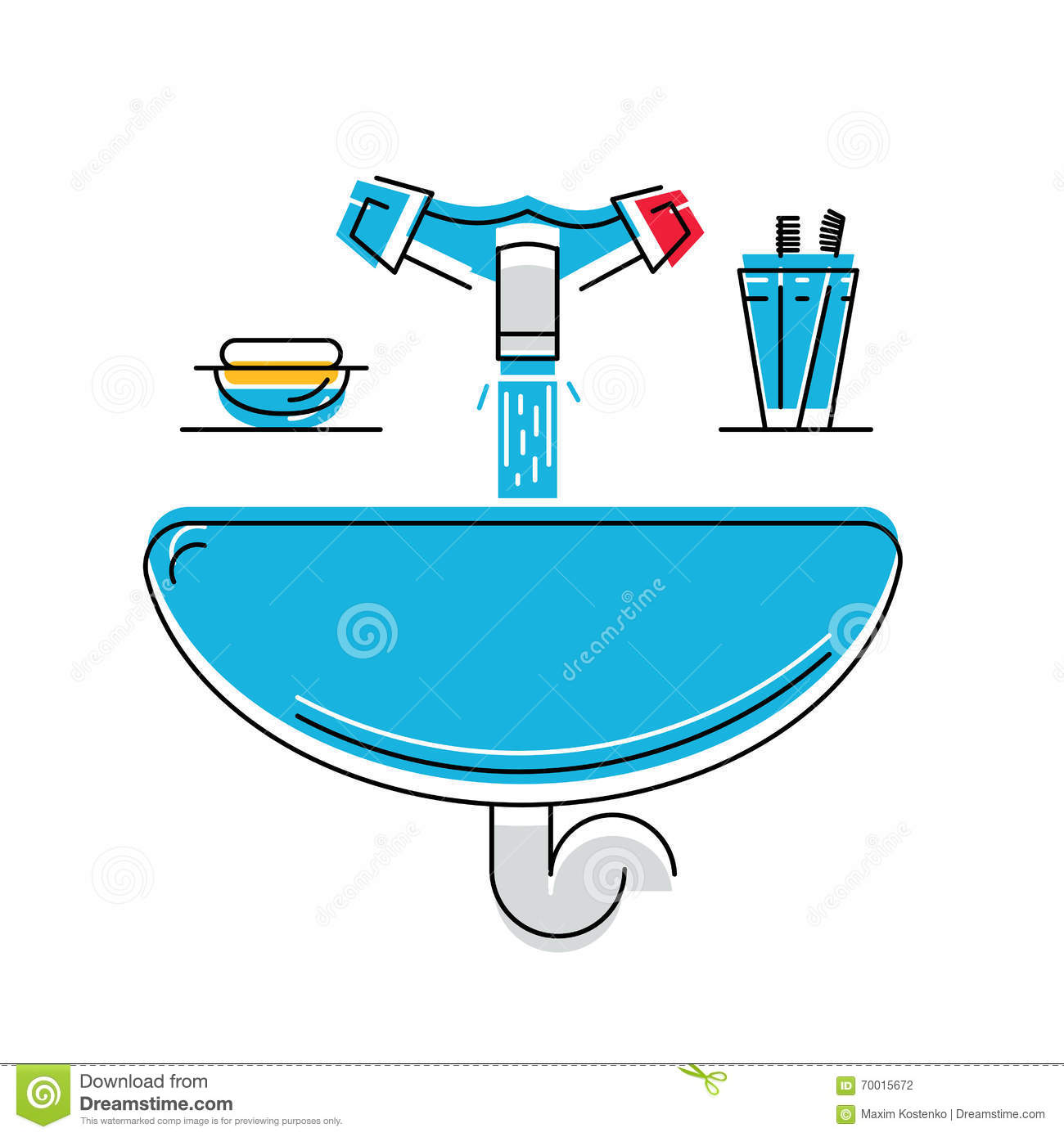 how to draw a bathroom sink bathroom sink with soap and toothbrushes line style 25380