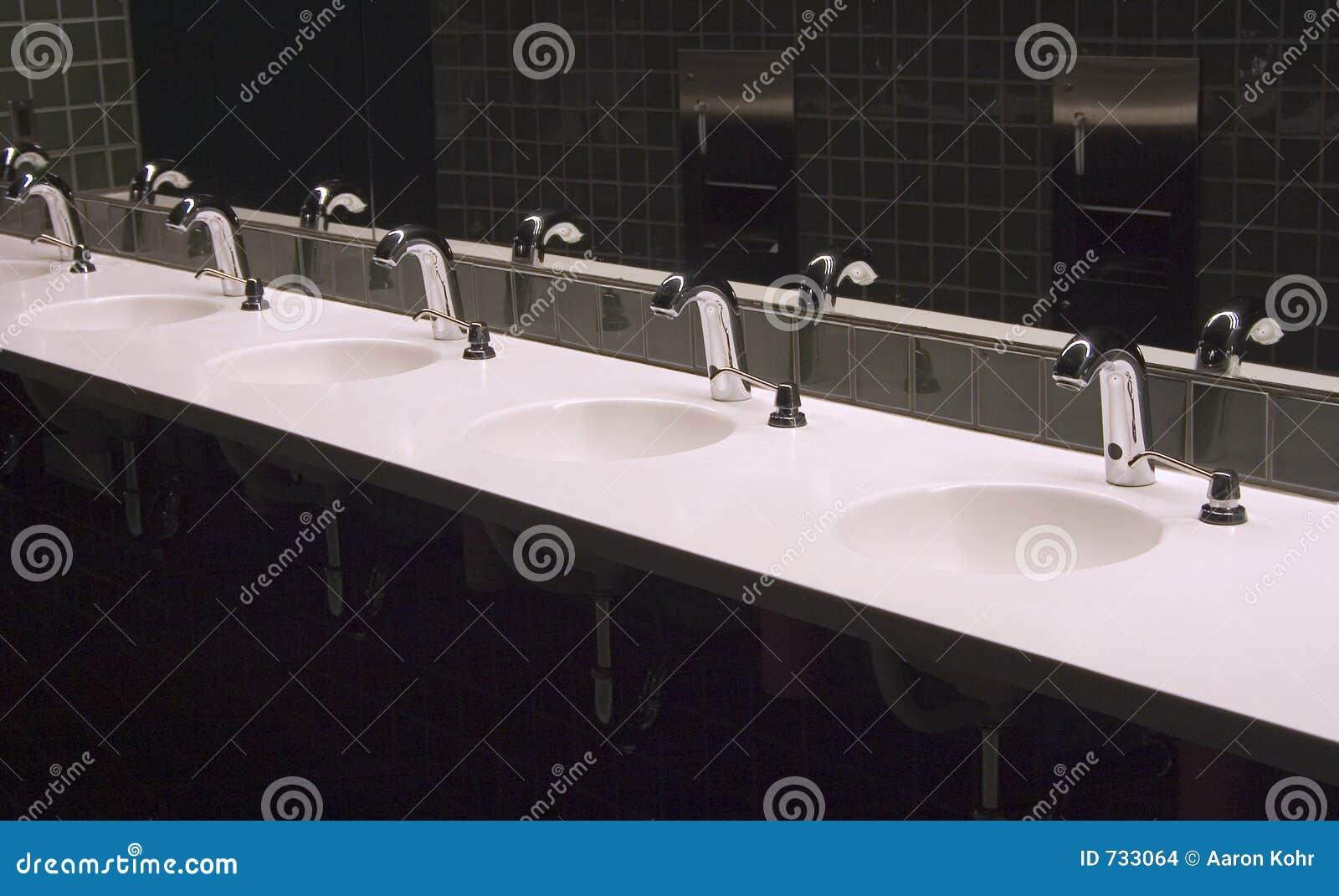Public Bathroom Sink : Bathroom Sinks 3 Stock Images - Image: 733064